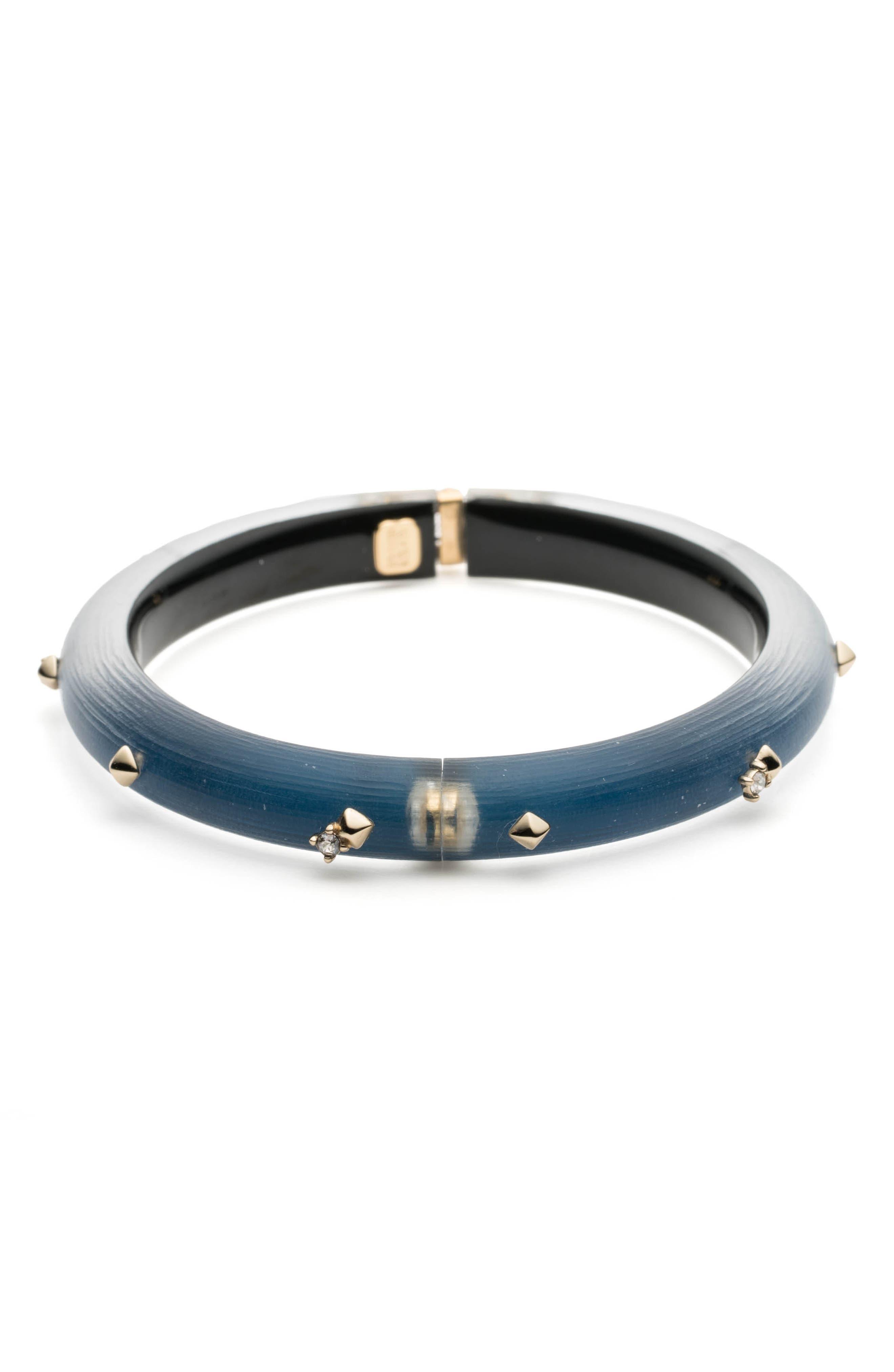 Studded Hinge Bracelet,                             Alternate thumbnail 3, color,                             PACIFIC