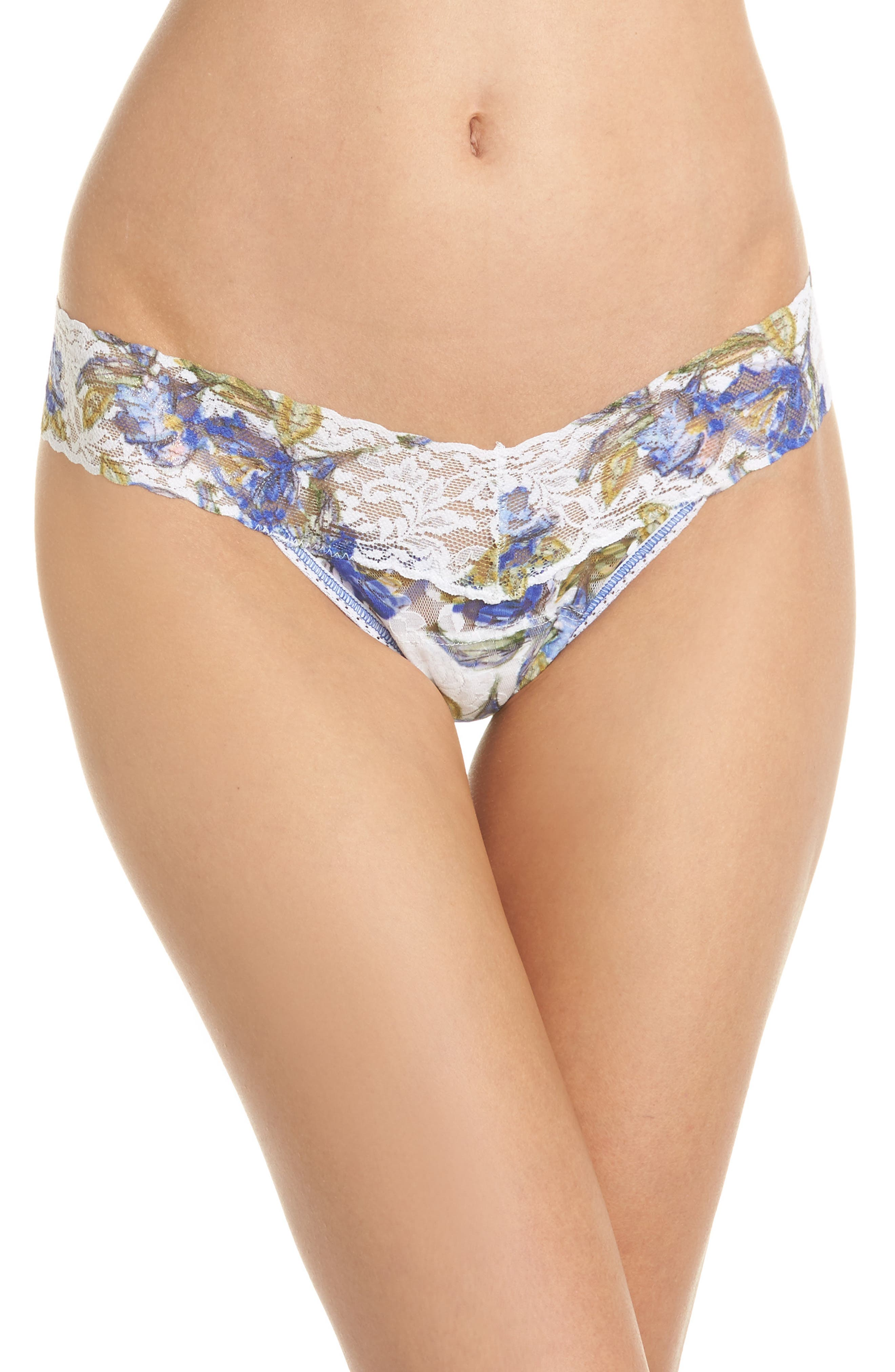 Print Low Rise Thong,                             Main thumbnail 5, color,