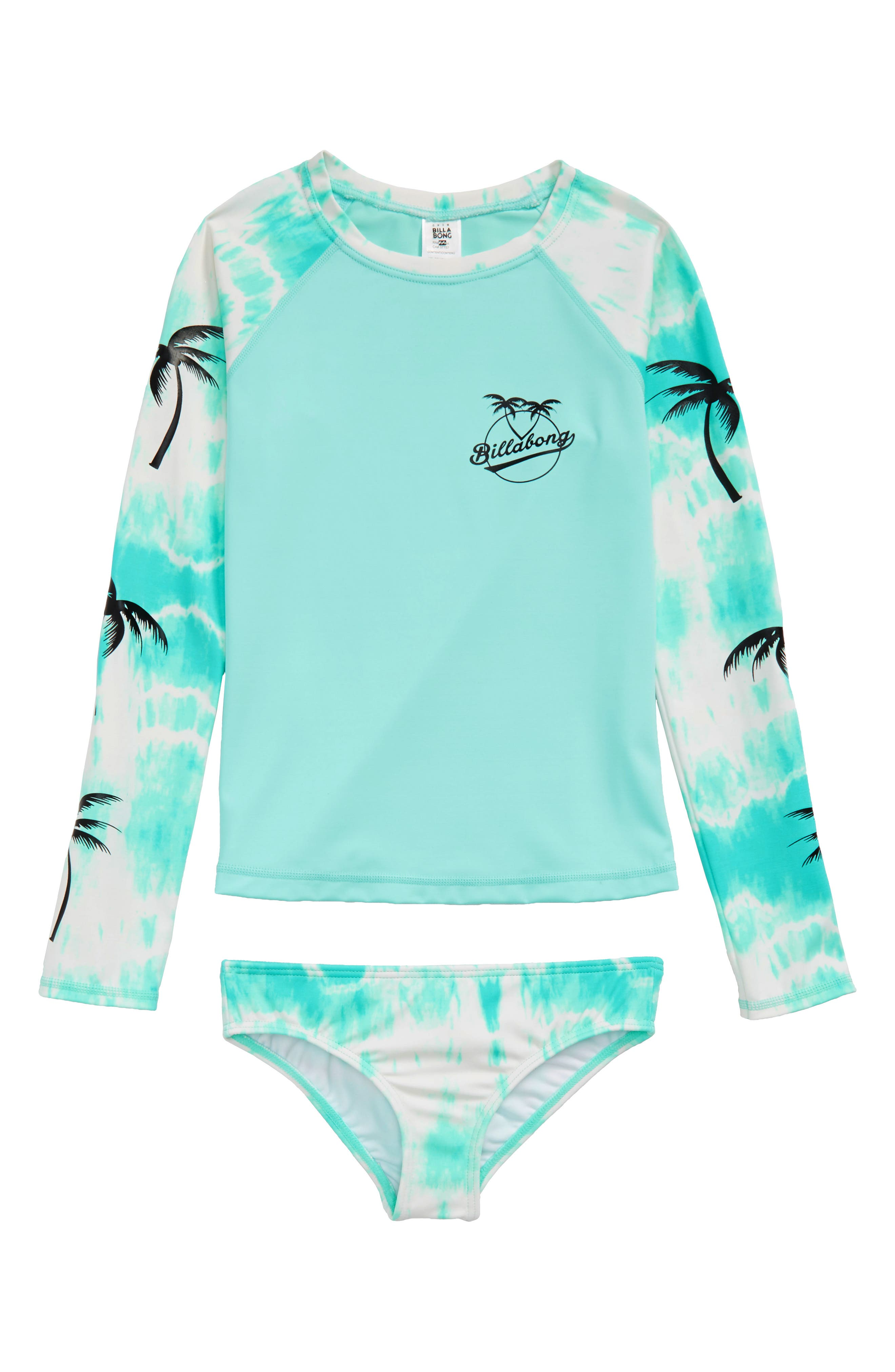 Peace 4 You Two-Piece Rashguard Swimsuit,                             Main thumbnail 1, color,                             414