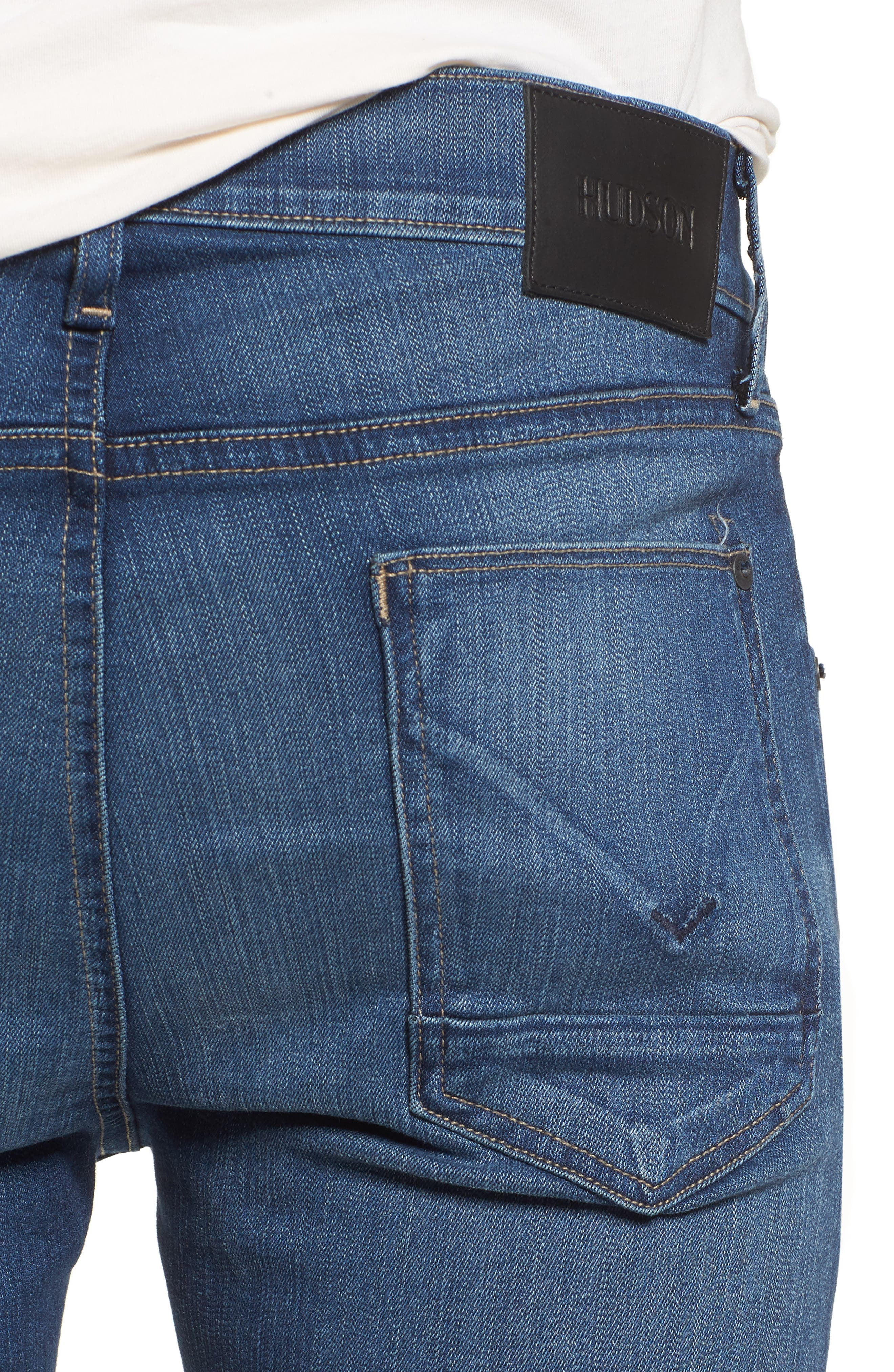 Hudson Blake Slim Fit Jeans,                             Alternate thumbnail 4, color,