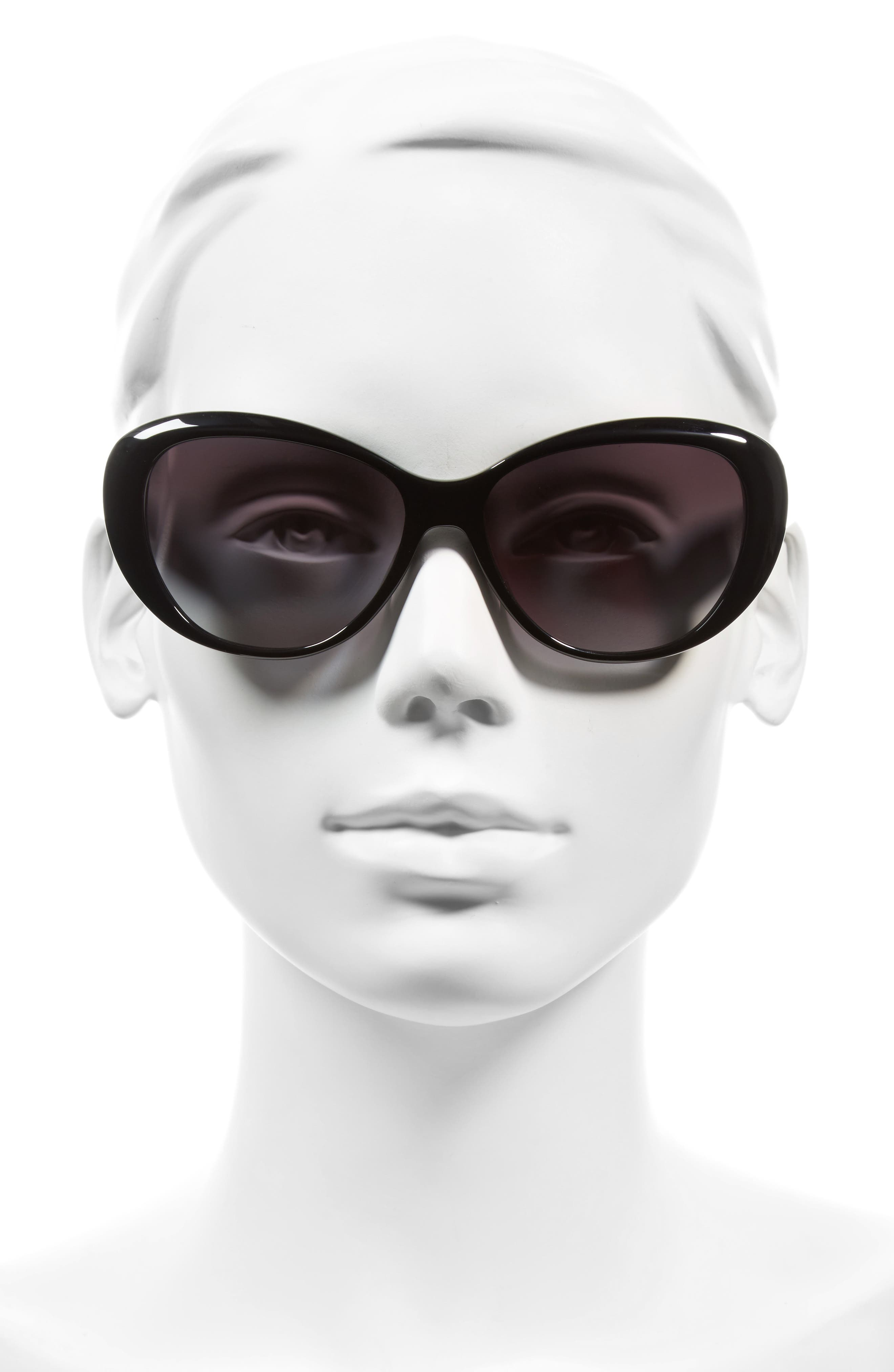 TORY BURCH,                             56mm Cat Eye Sunglasses,                             Alternate thumbnail 2, color,                             001