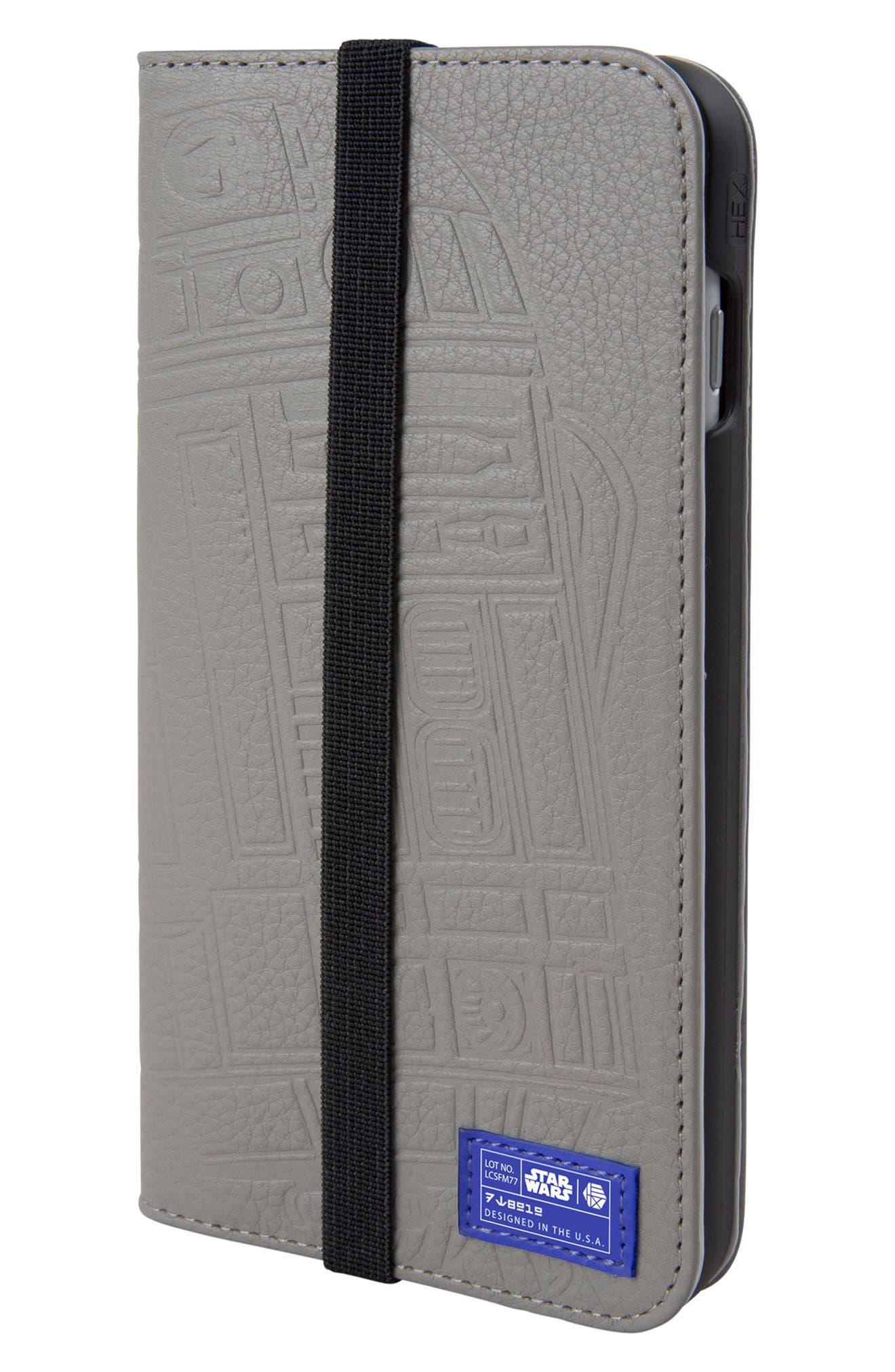 R2-D2 iPhone 8 Plus Wallet Case,                             Main thumbnail 1, color,                             036