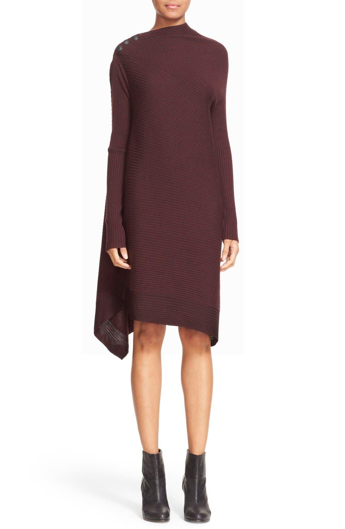 Knit Merino Wool Swing Dress, Main, color, 930
