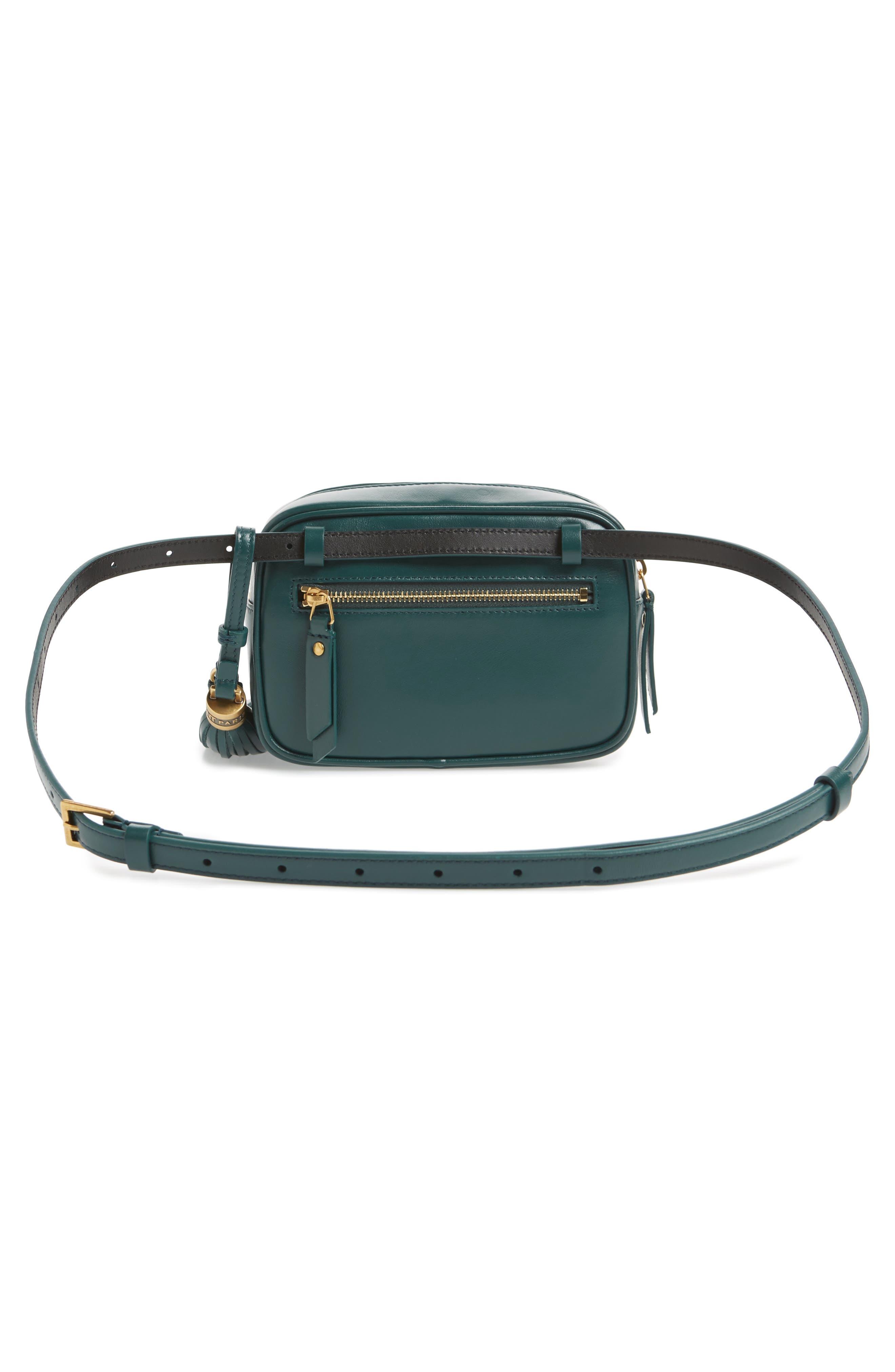 Loulou Matelassé Leather Belt Bag,                             Alternate thumbnail 4, color,                             300
