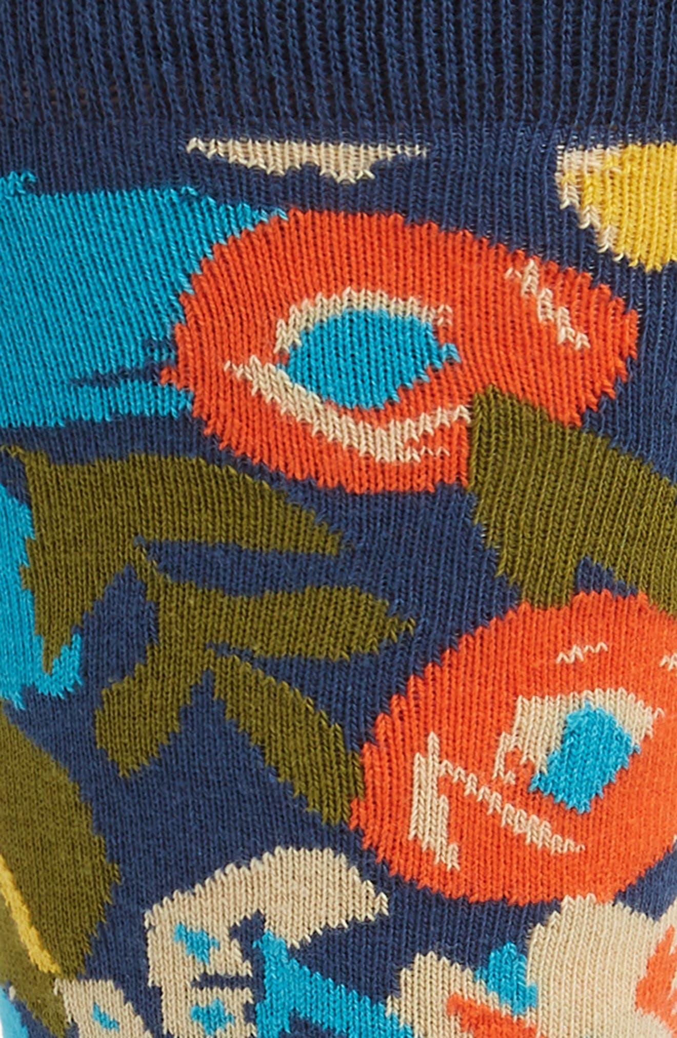 x Wiz Khalifa Top Floor Socks,                             Alternate thumbnail 2, color,                             NAVY MULTI