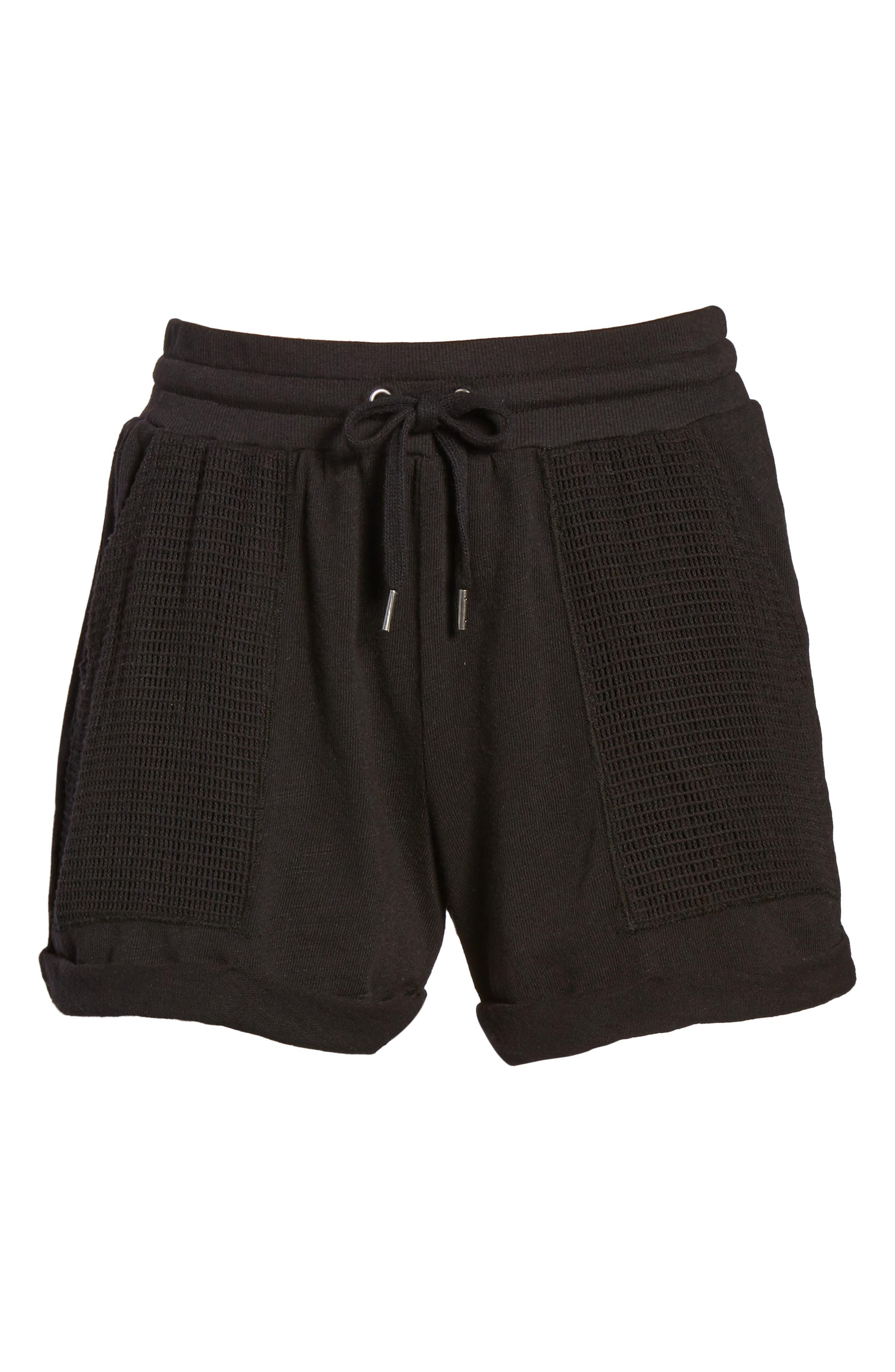 Knit Shorts,                             Alternate thumbnail 6, color,                             001