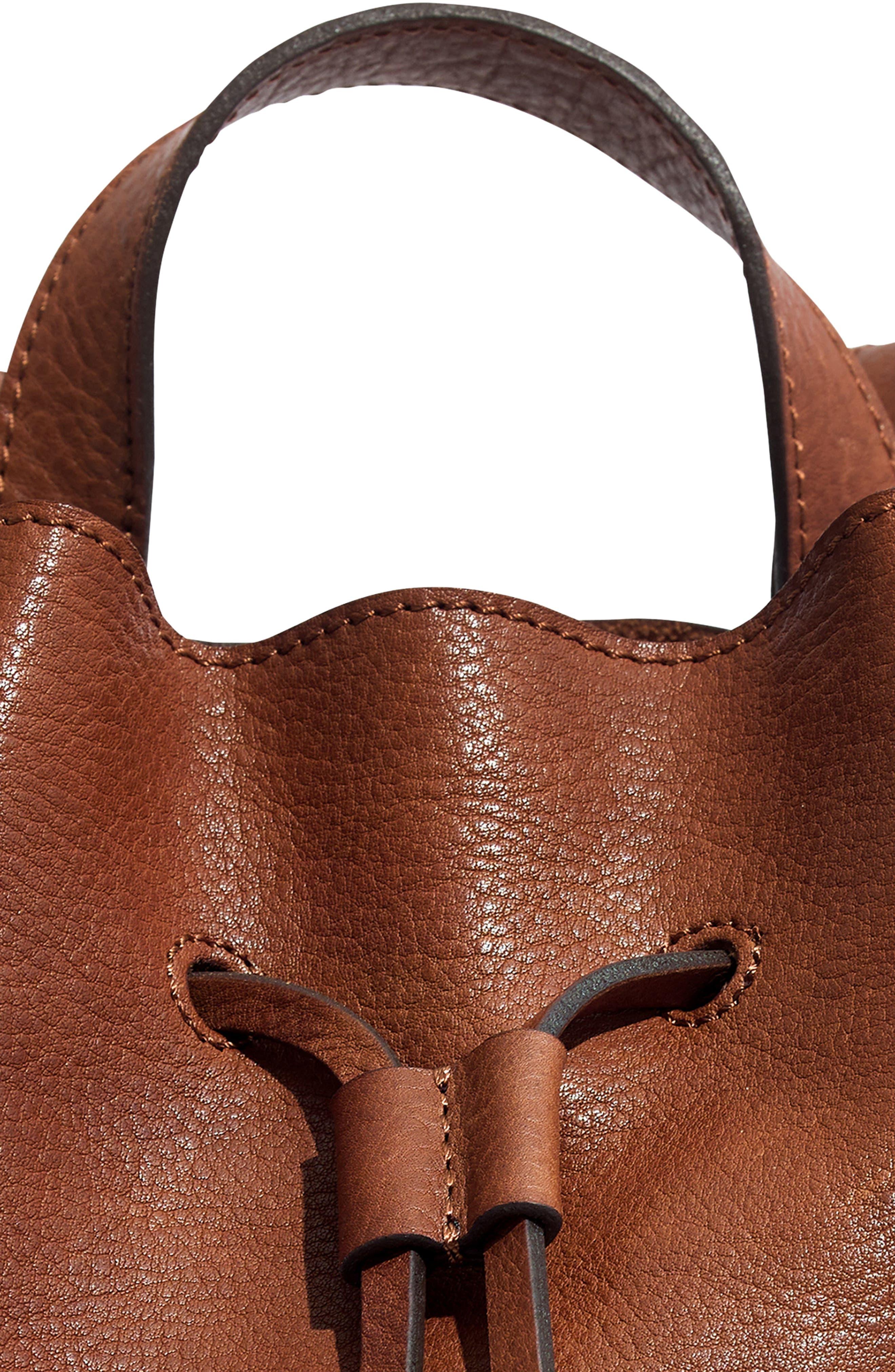Mini Somerset Leather Backpack,                             Alternate thumbnail 7, color,                             200