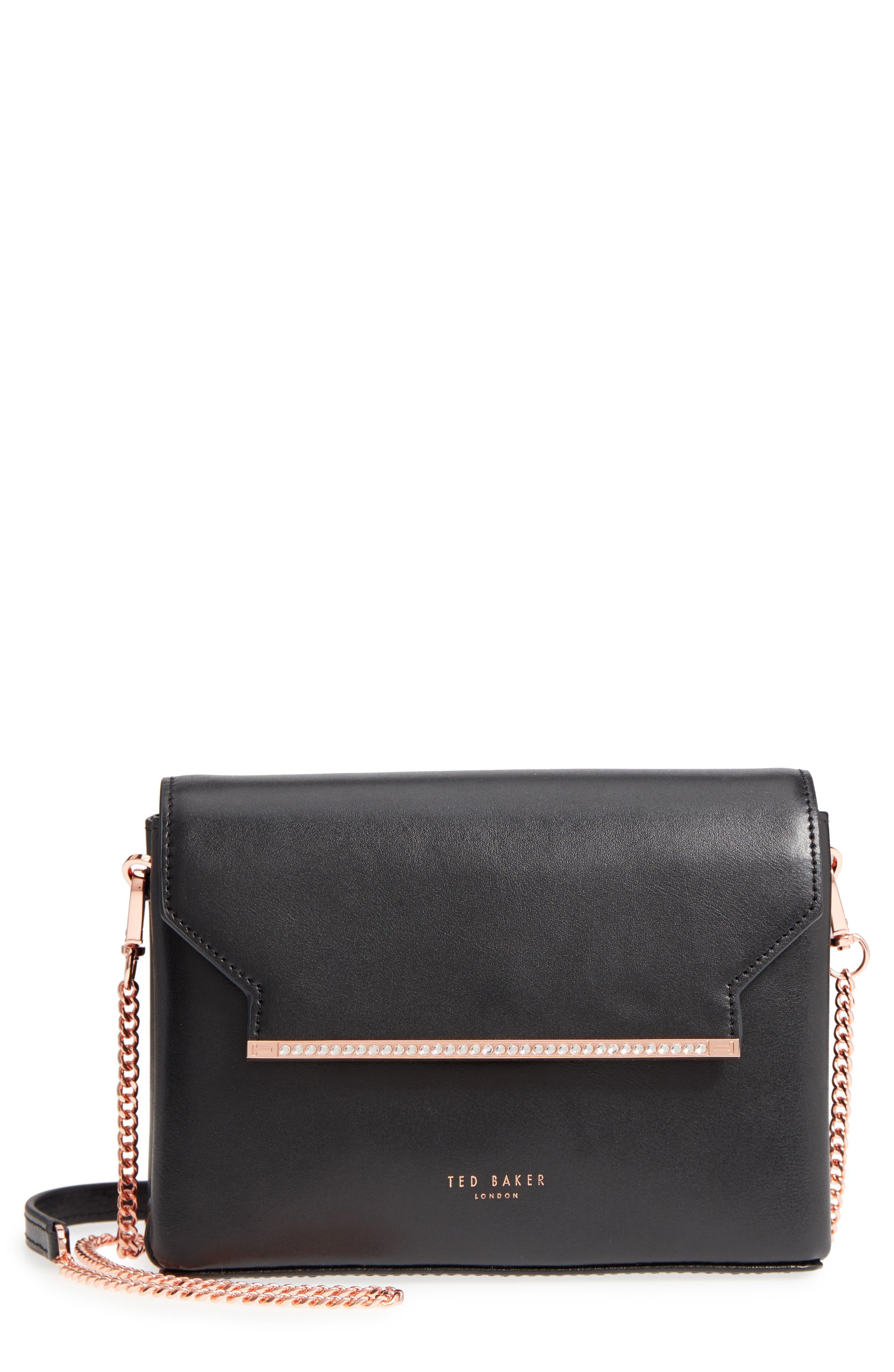 Crystal Bar Crossbody Bag,                             Main thumbnail 1, color,                             001