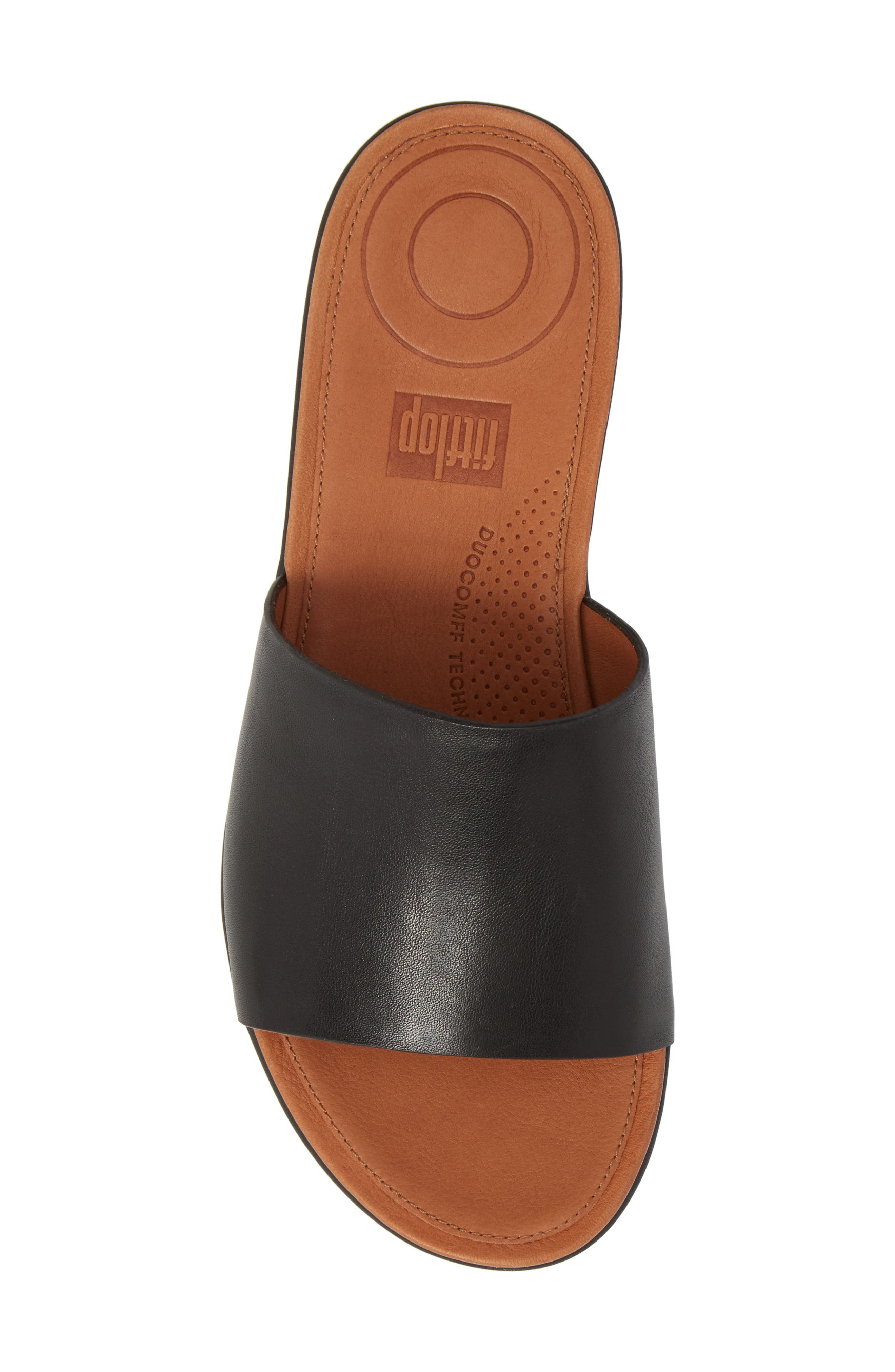 Sola Sandal,                             Alternate thumbnail 5, color,                             BLACK LEATHER