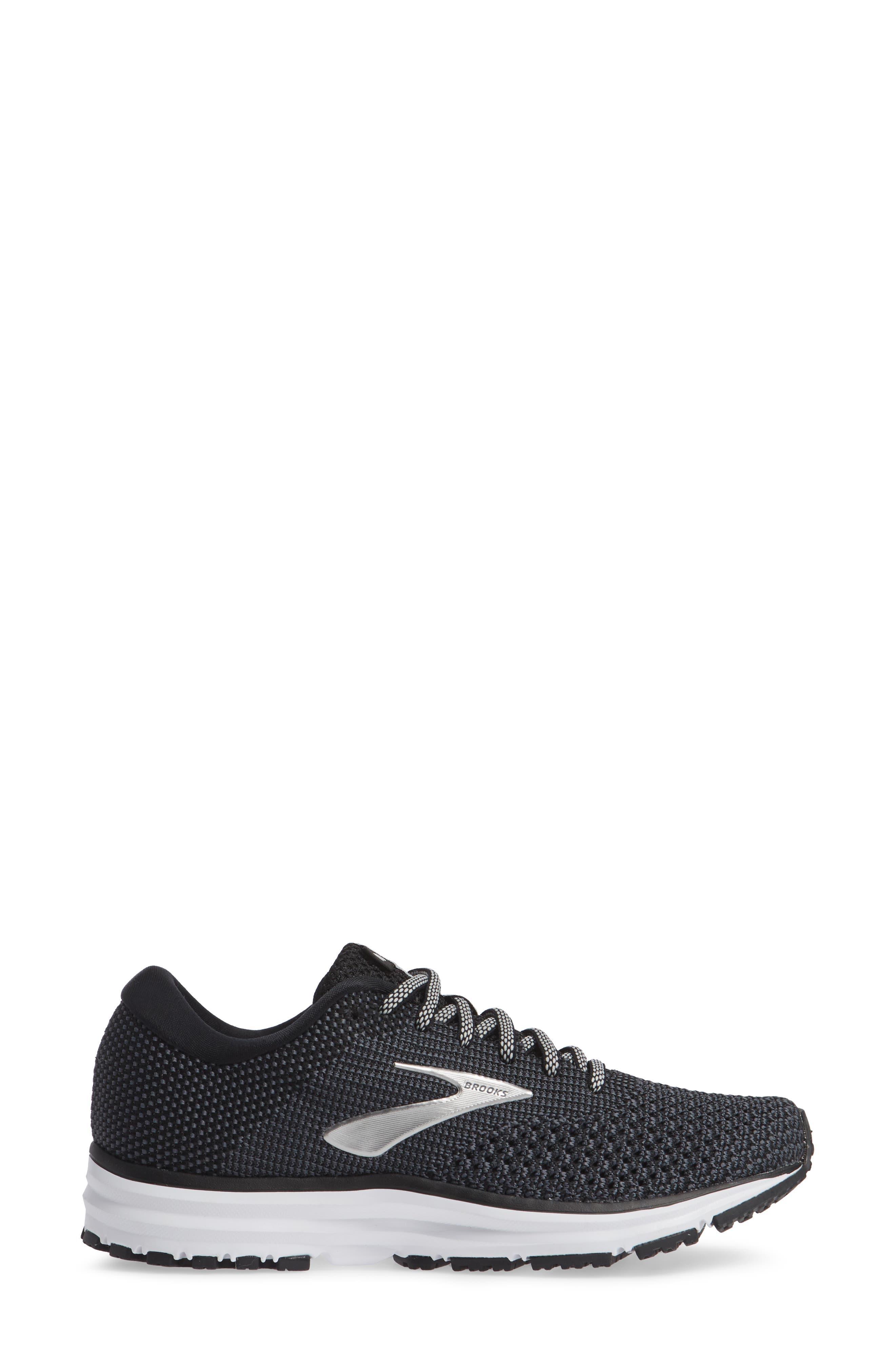 Revel 2 Running Shoe,                             Alternate thumbnail 3, color,                             BLACK/ GREY/ GREY
