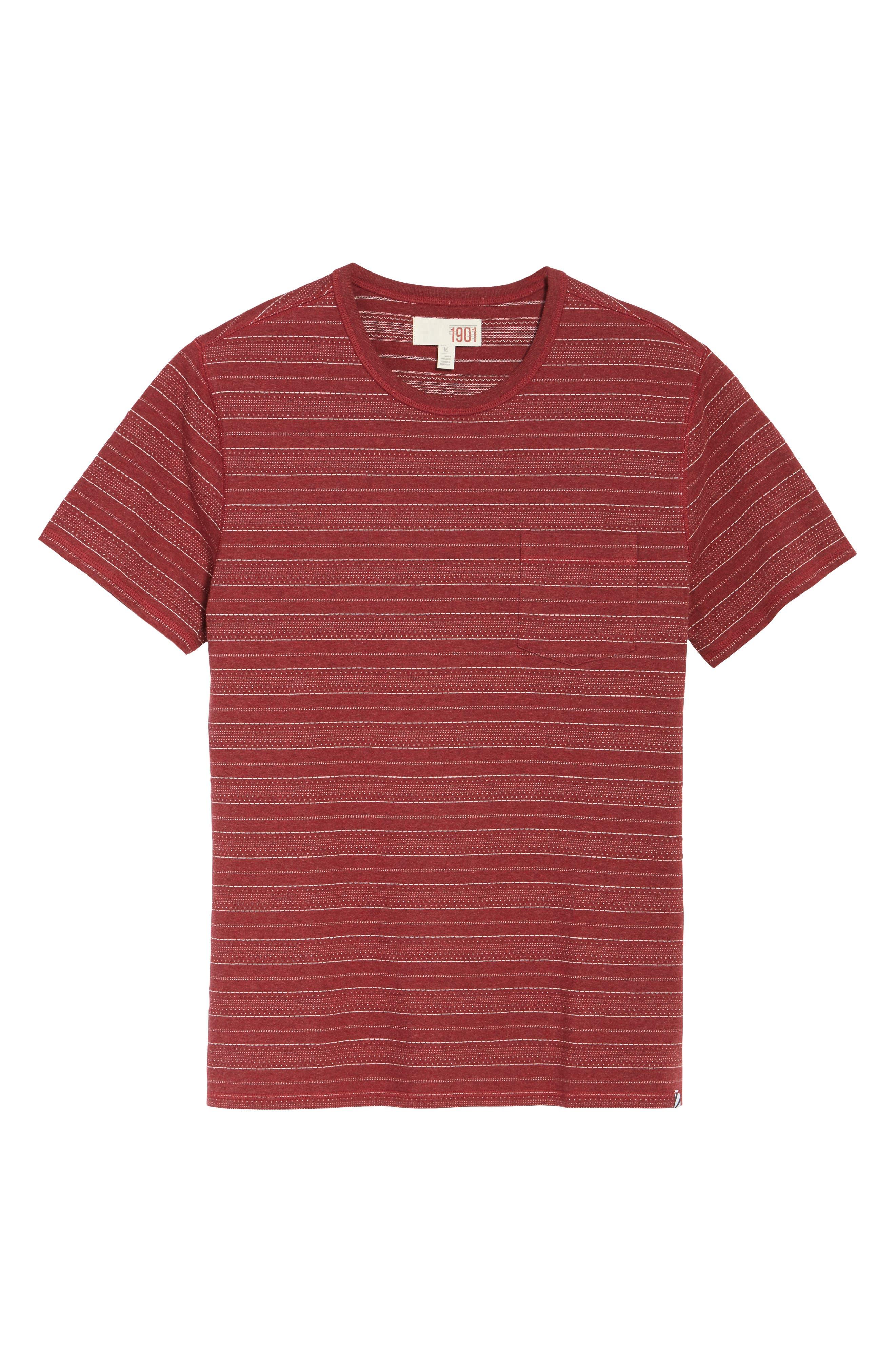Jacquard Stripe T-Shirt,                             Alternate thumbnail 6, color,                             938
