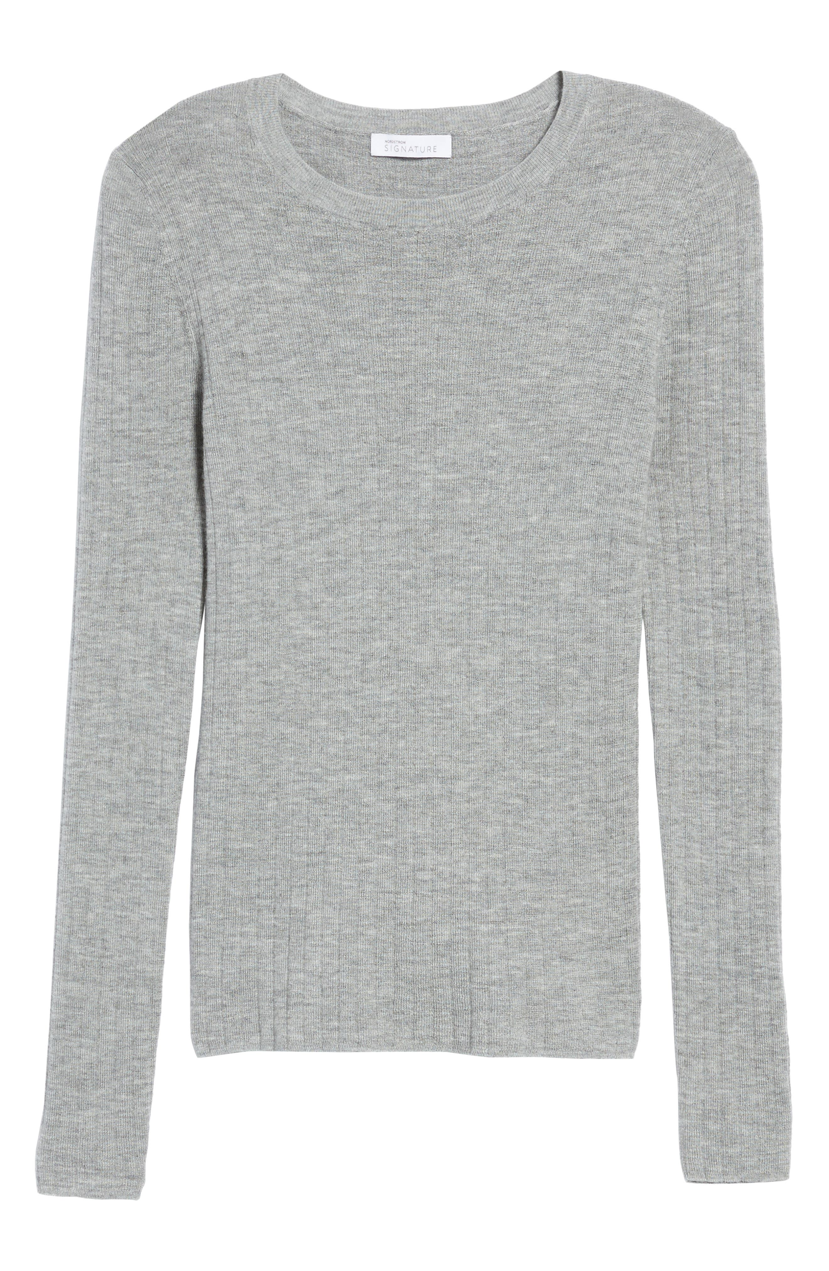 Ribbed Cashmere Sweater,                             Alternate thumbnail 6, color,                             030