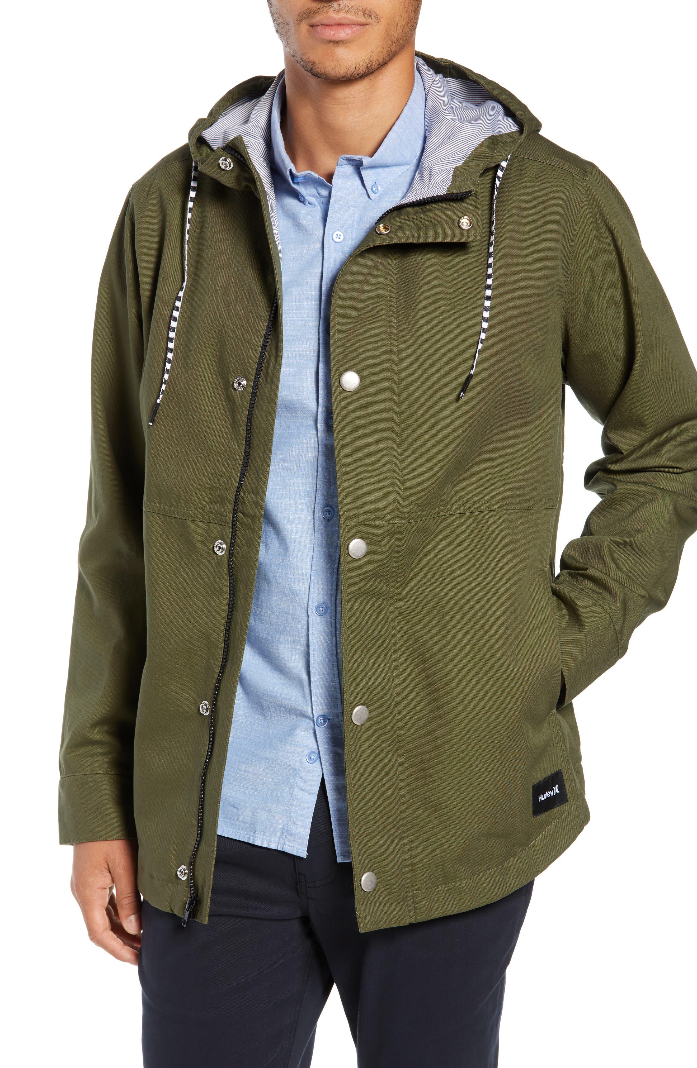 Mac A-Frame Jacket,                         Main,                         color, OLIVE CANVAS