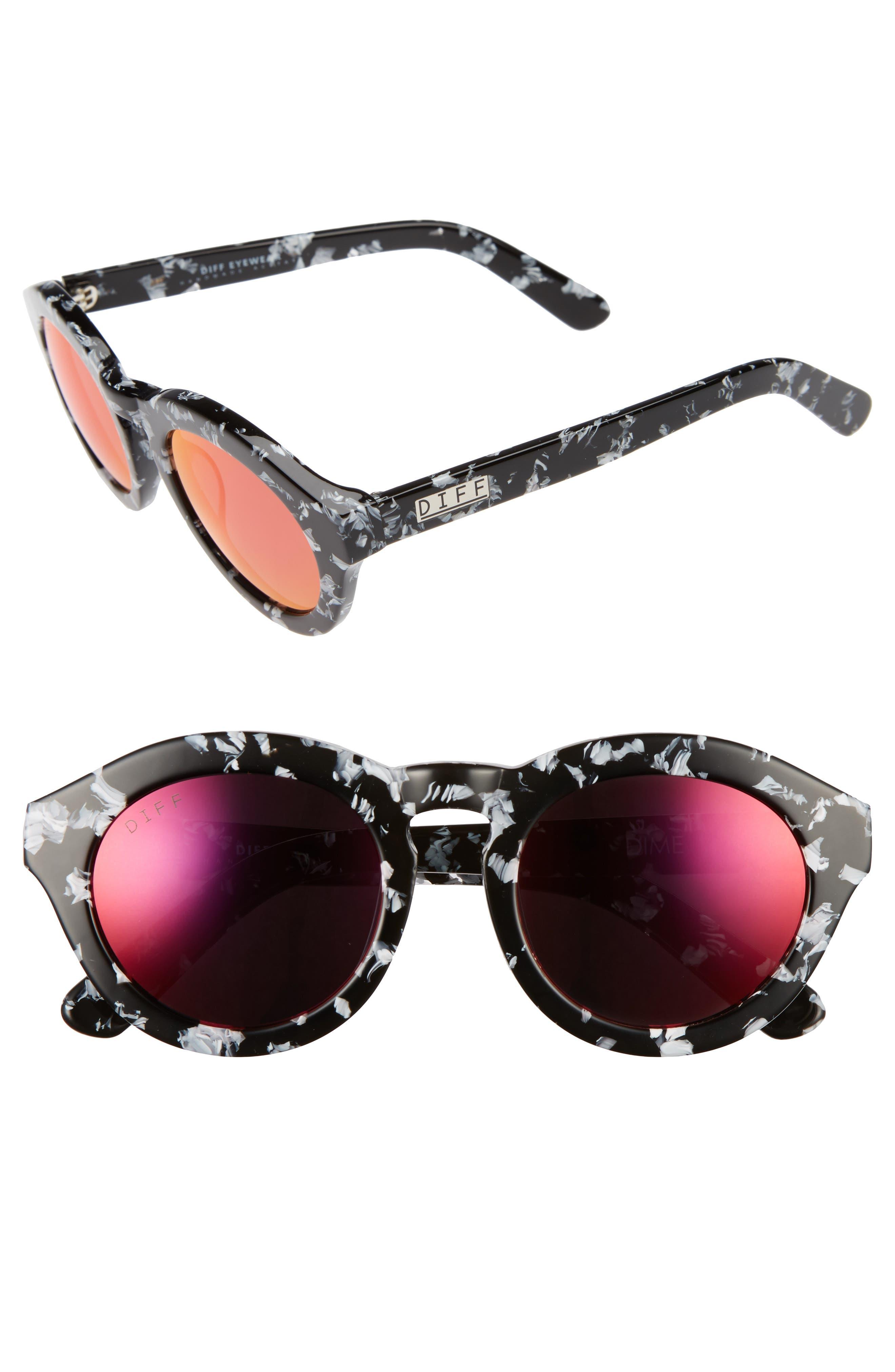 Dime 48mm Retro Sunglasses,                             Alternate thumbnail 15, color,