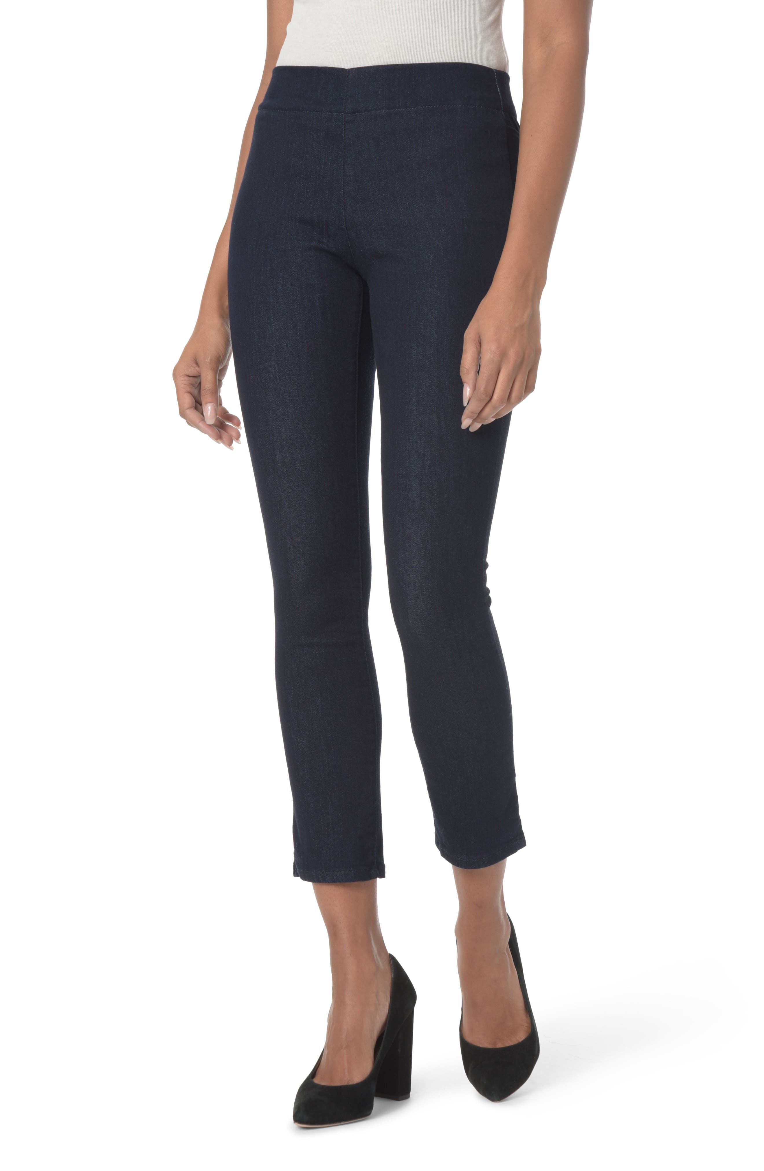 NYDJ Alina Pull-On Ankle Skinny Jeans, Main, color, RINSE