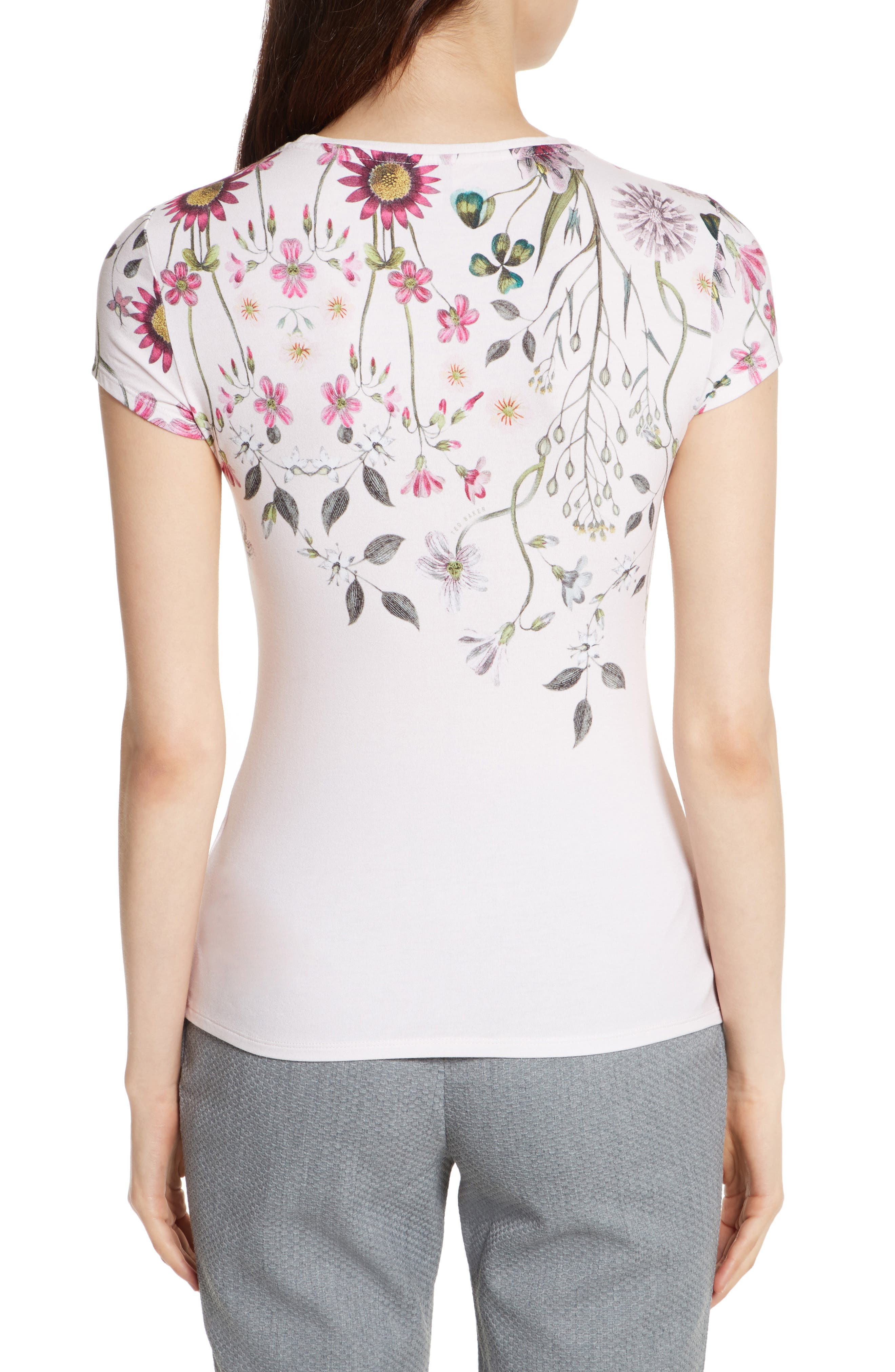 Ebone Unity Floral Fitted Tee,                             Alternate thumbnail 2, color,                             672