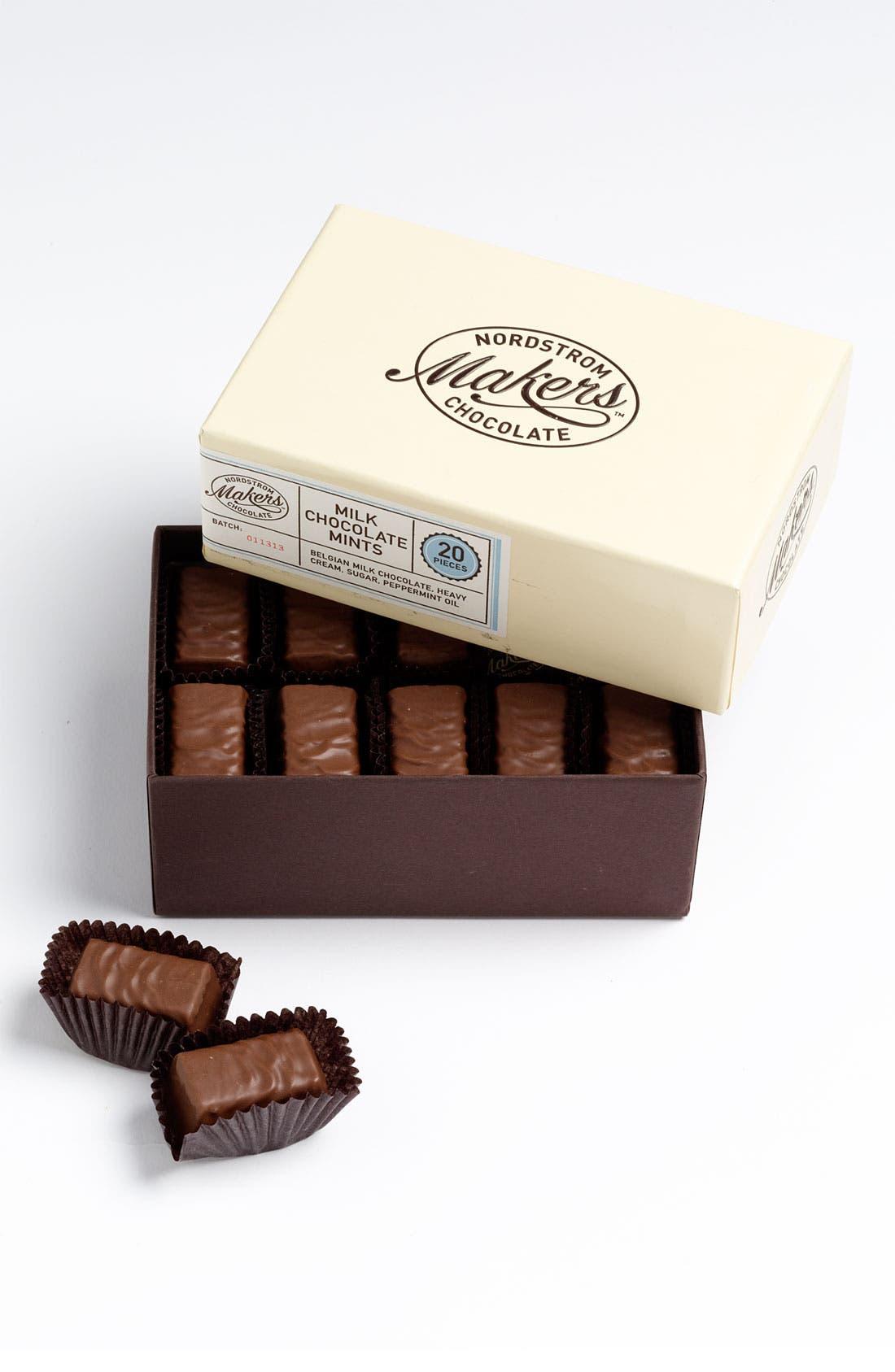 Milk Chocolate Mints,                             Main thumbnail 1, color,                             NO COLOR