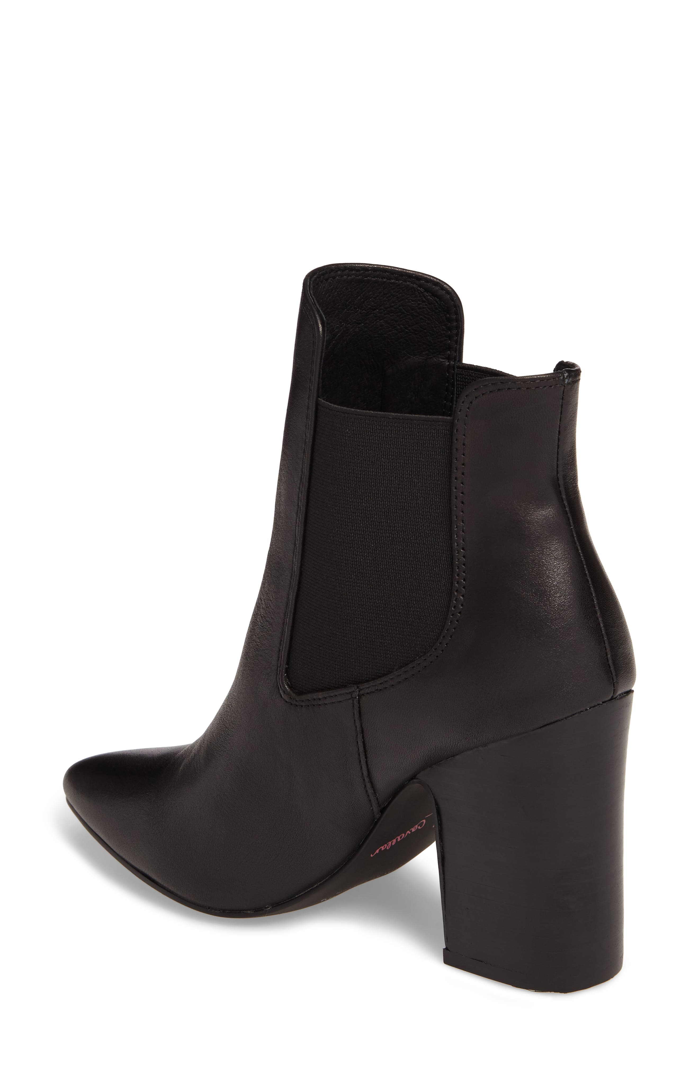 Starlight Bootie,                             Alternate thumbnail 2, color,                             BLACK LEATHER