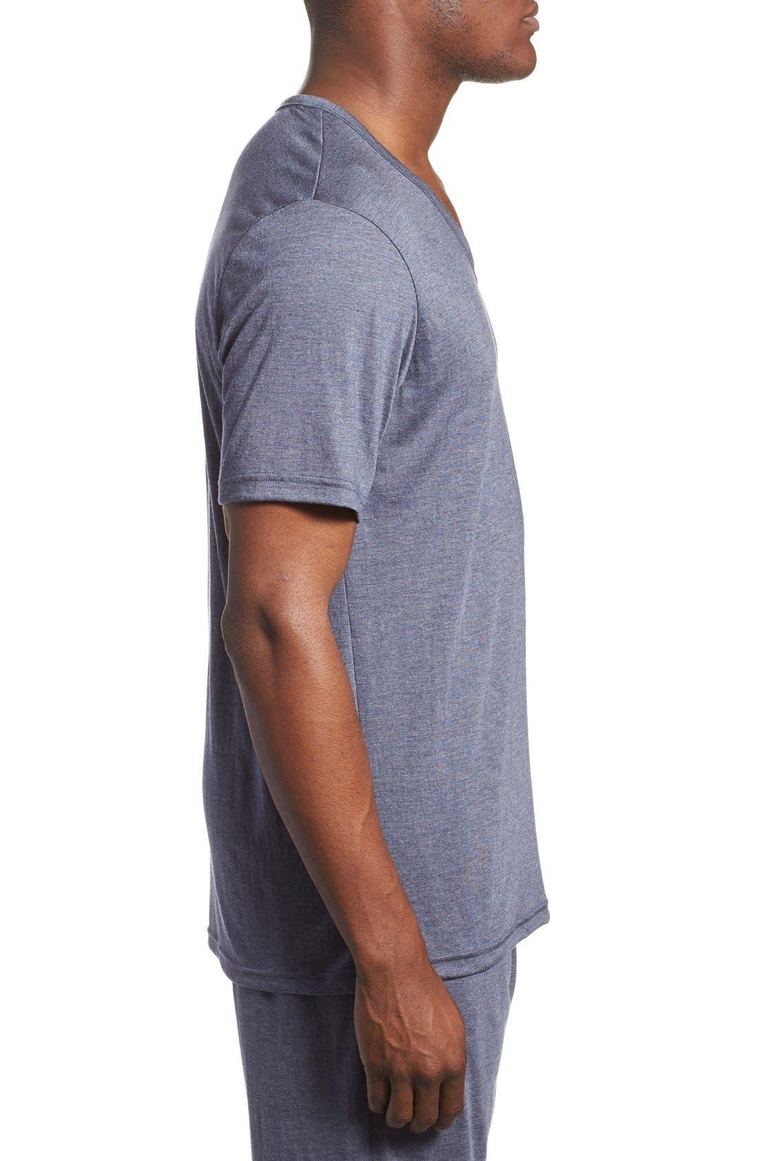 'Liquid Lounge' V-Neck T-Shirt,                             Alternate thumbnail 4, color,                             409