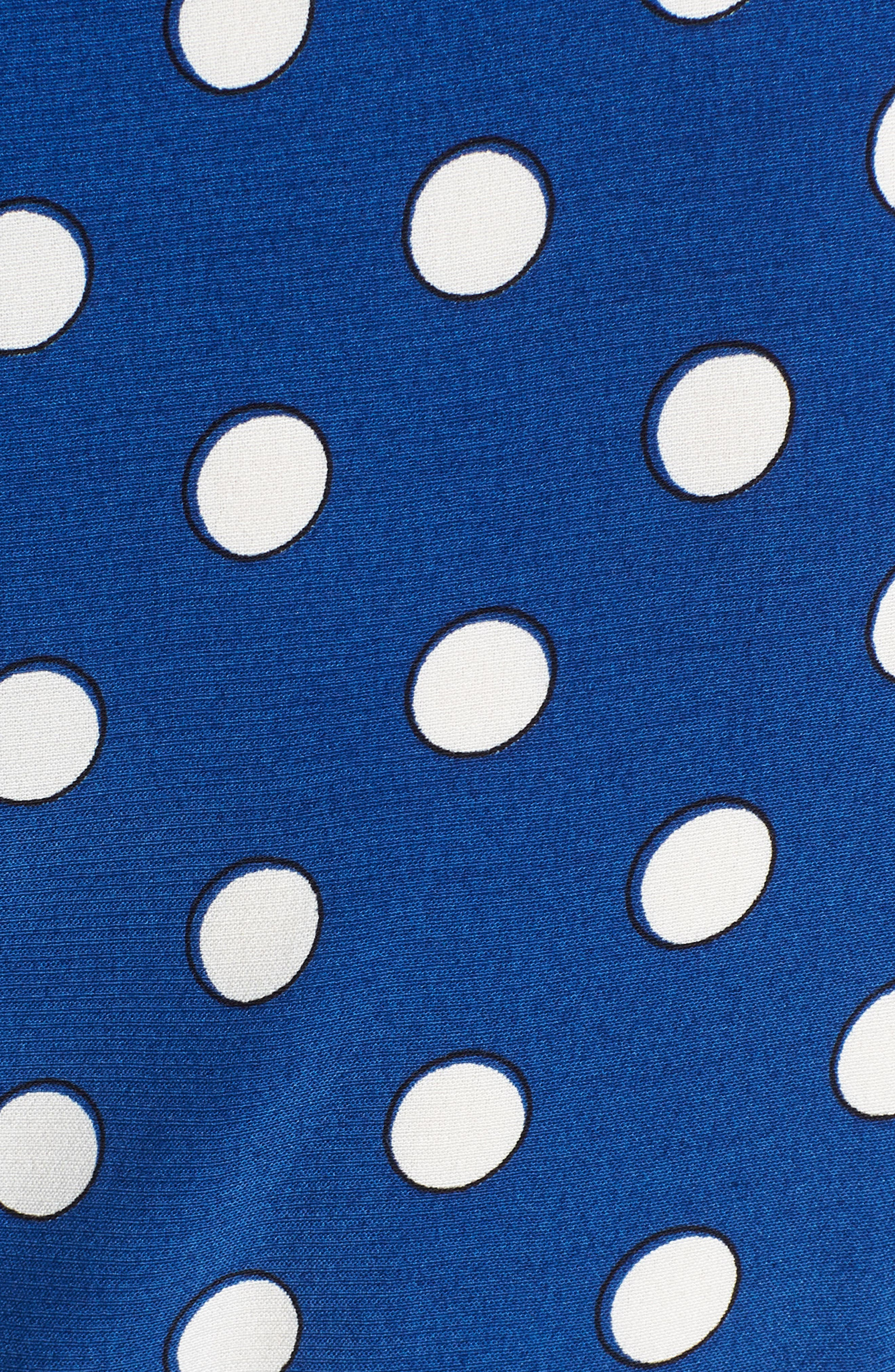 Polka Dot Wrap Dress,                             Alternate thumbnail 6, color,