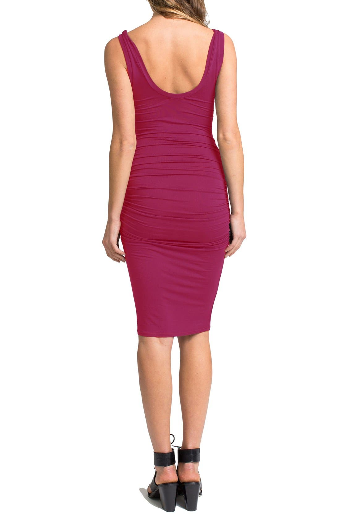 'Frankie' Ruched Tank Dress,                             Alternate thumbnail 12, color,