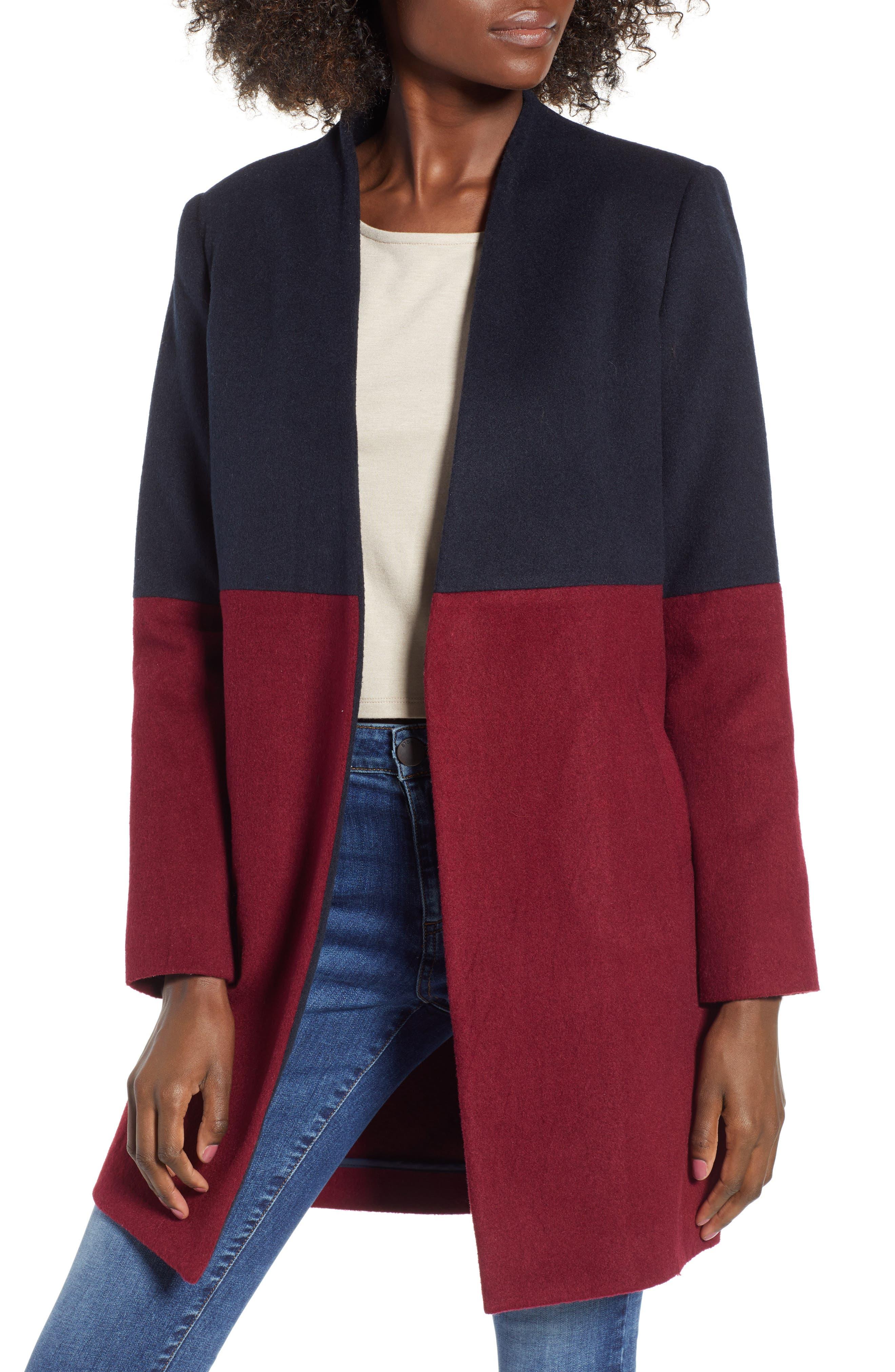 Colorblock Coat,                         Main,                         color, 400