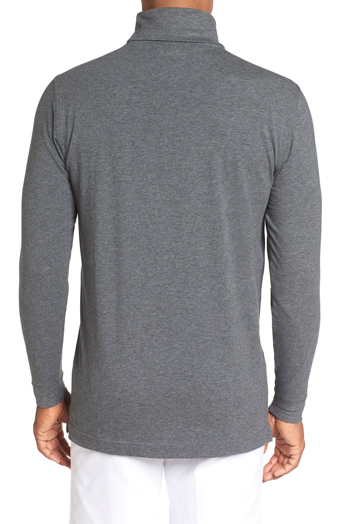 Long Sleeve Turtleneck T-Shirt,                             Alternate thumbnail 2, color,                             CHARCOAL