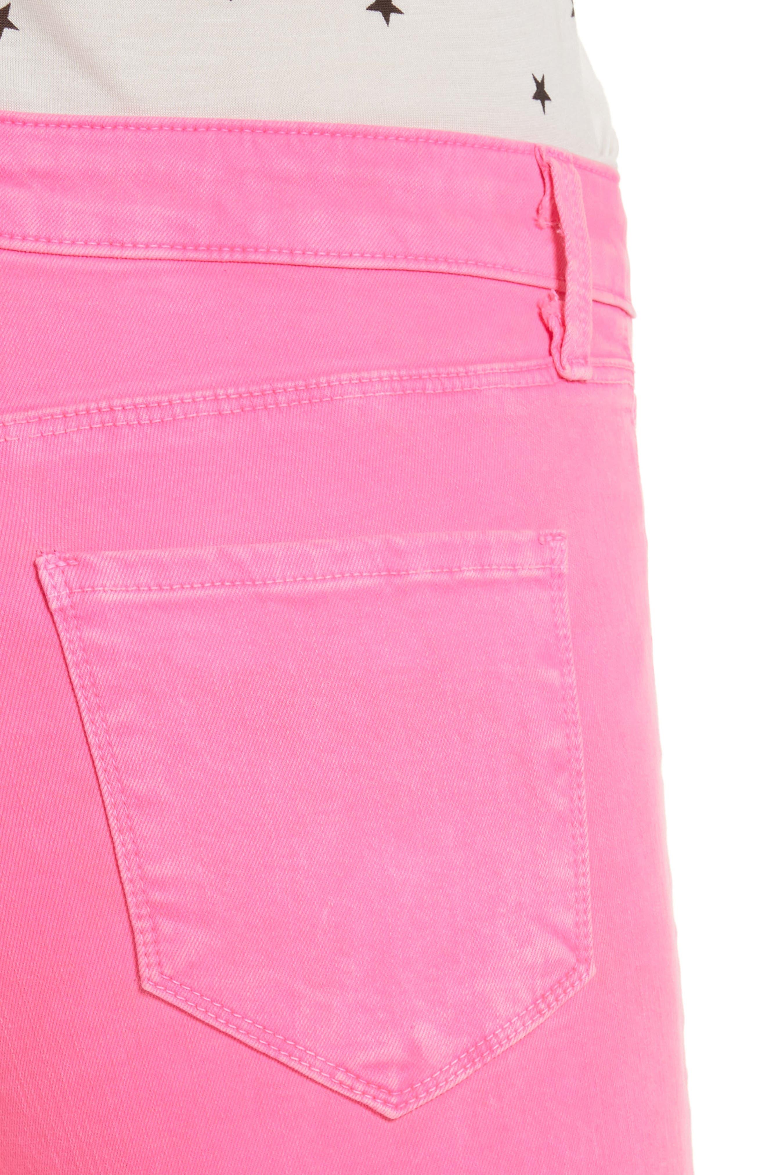 Margot Crop Skinny Jeans,                             Alternate thumbnail 4, color,                             FLAMINGO
