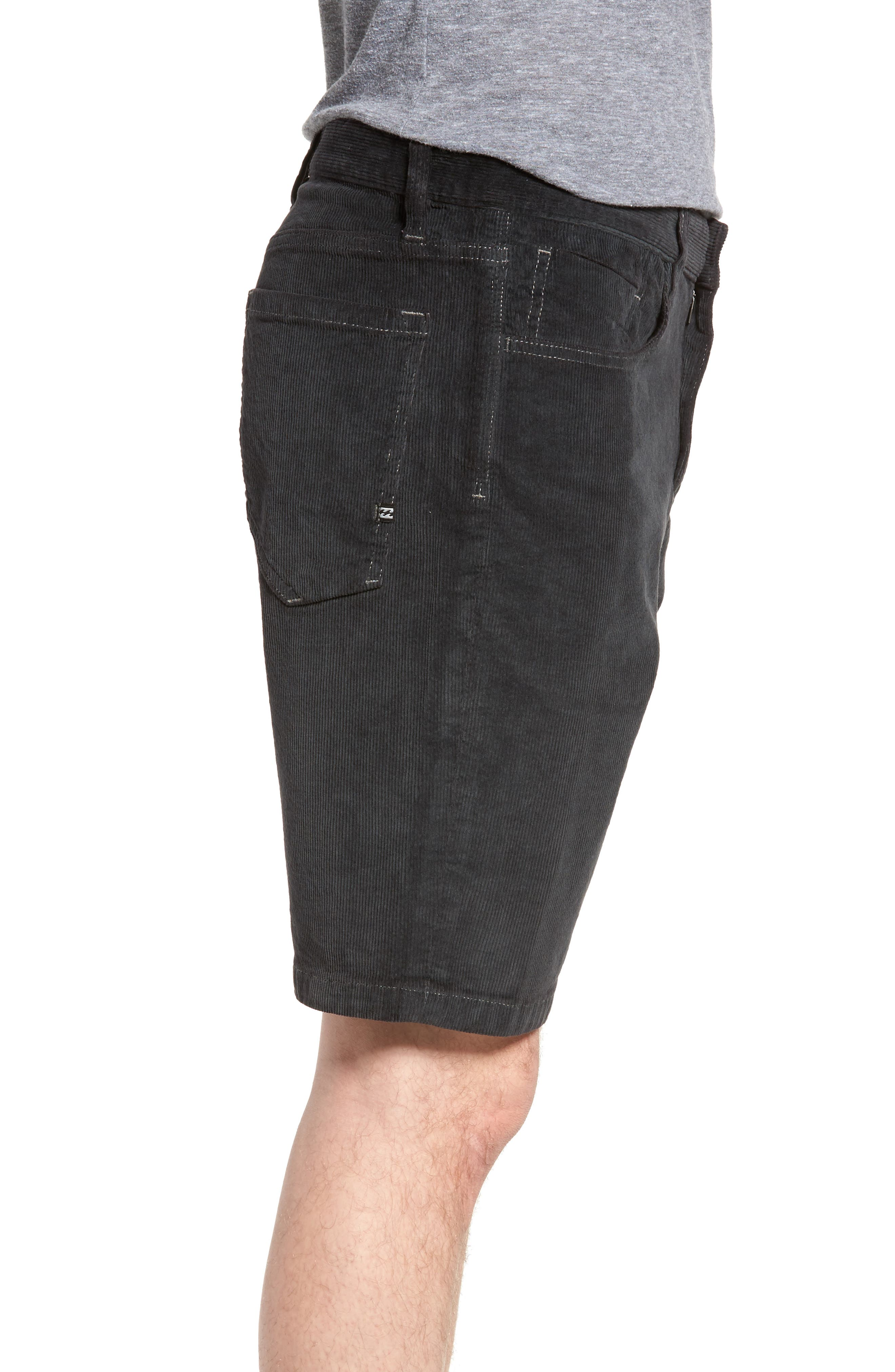 Outsider Corduroy Shorts,                             Alternate thumbnail 3, color,                             010