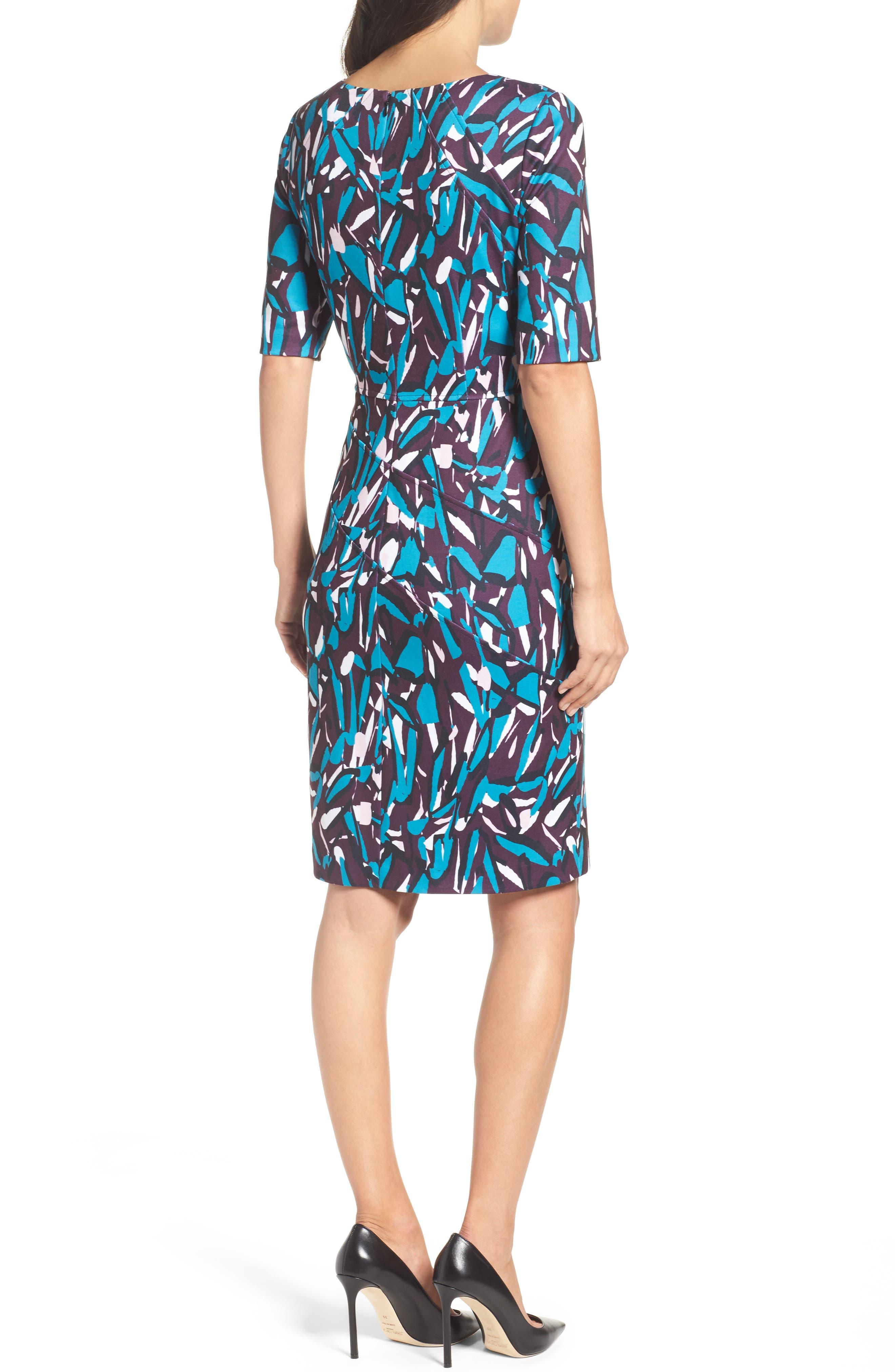 Ponte Pencil Dress,                             Alternate thumbnail 2, color,                             553