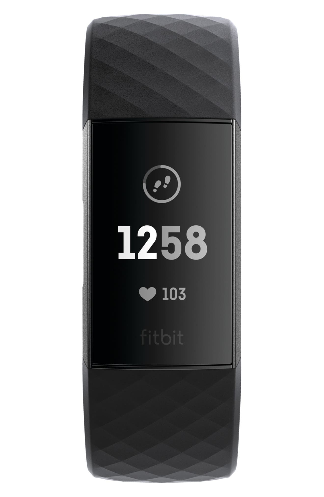 Charge 3 Wireless Activity & Heart Rate Tracker,                             Main thumbnail 1, color,                             BLACK
