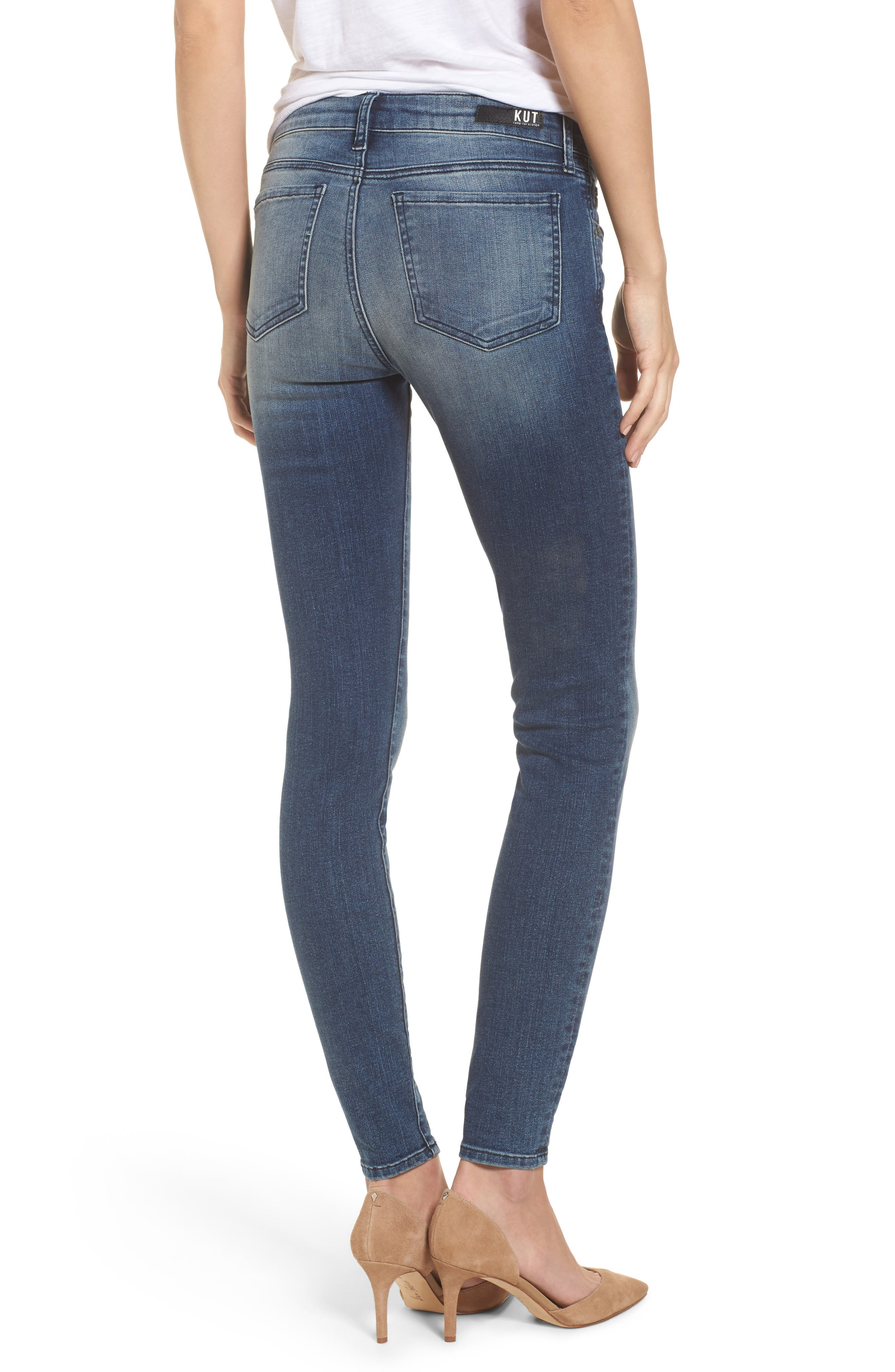 Donna High Waist Ankle Skinny Jeans,                             Alternate thumbnail 2, color,