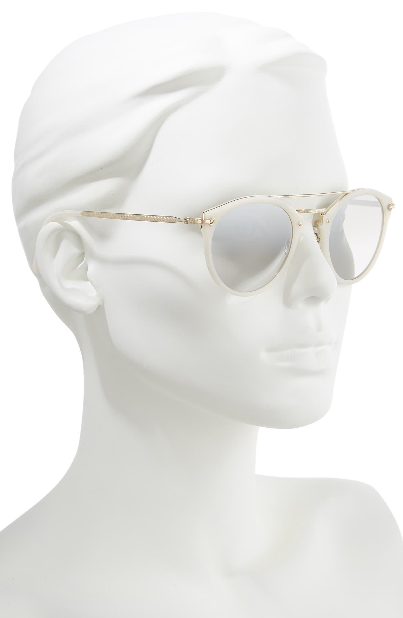 Remick 50mm Brow Bar Sunglasses,                             Alternate thumbnail 2, color,                             100