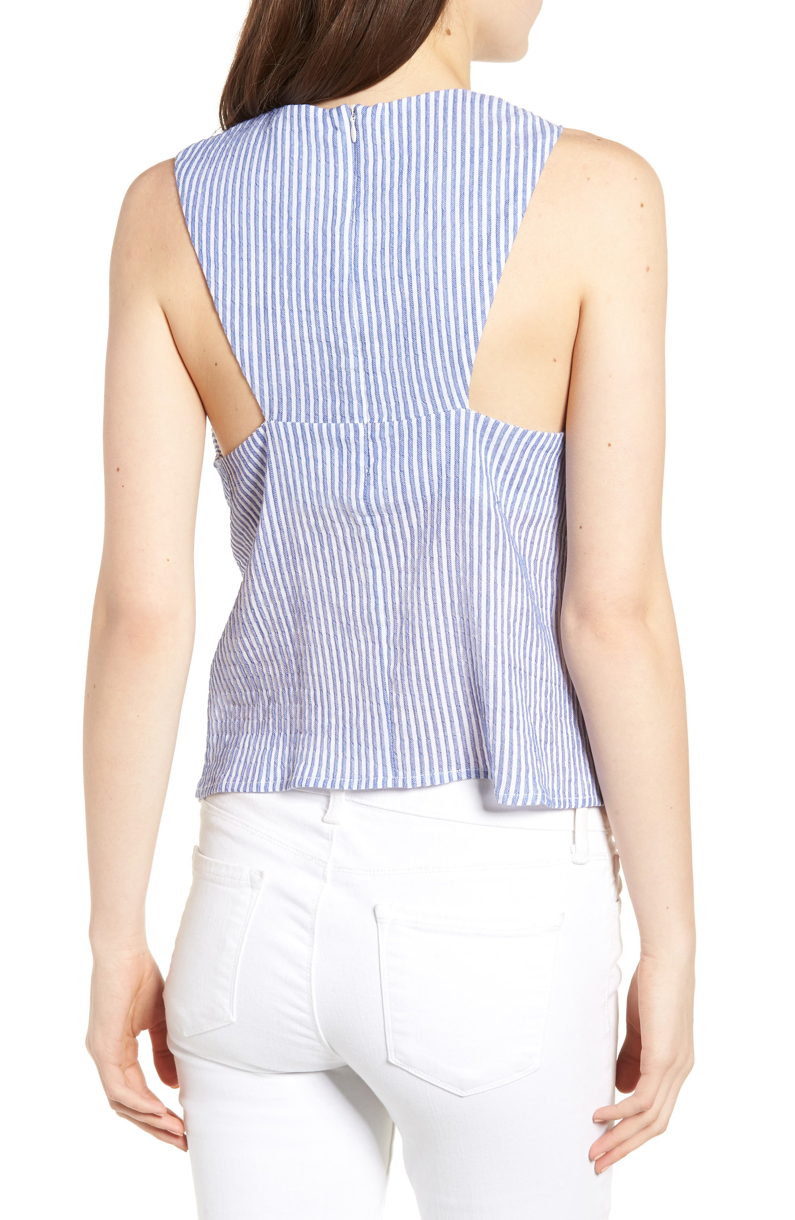 Bishop + Young Knot Front Stripe Tank,                             Alternate thumbnail 2, color,                             400