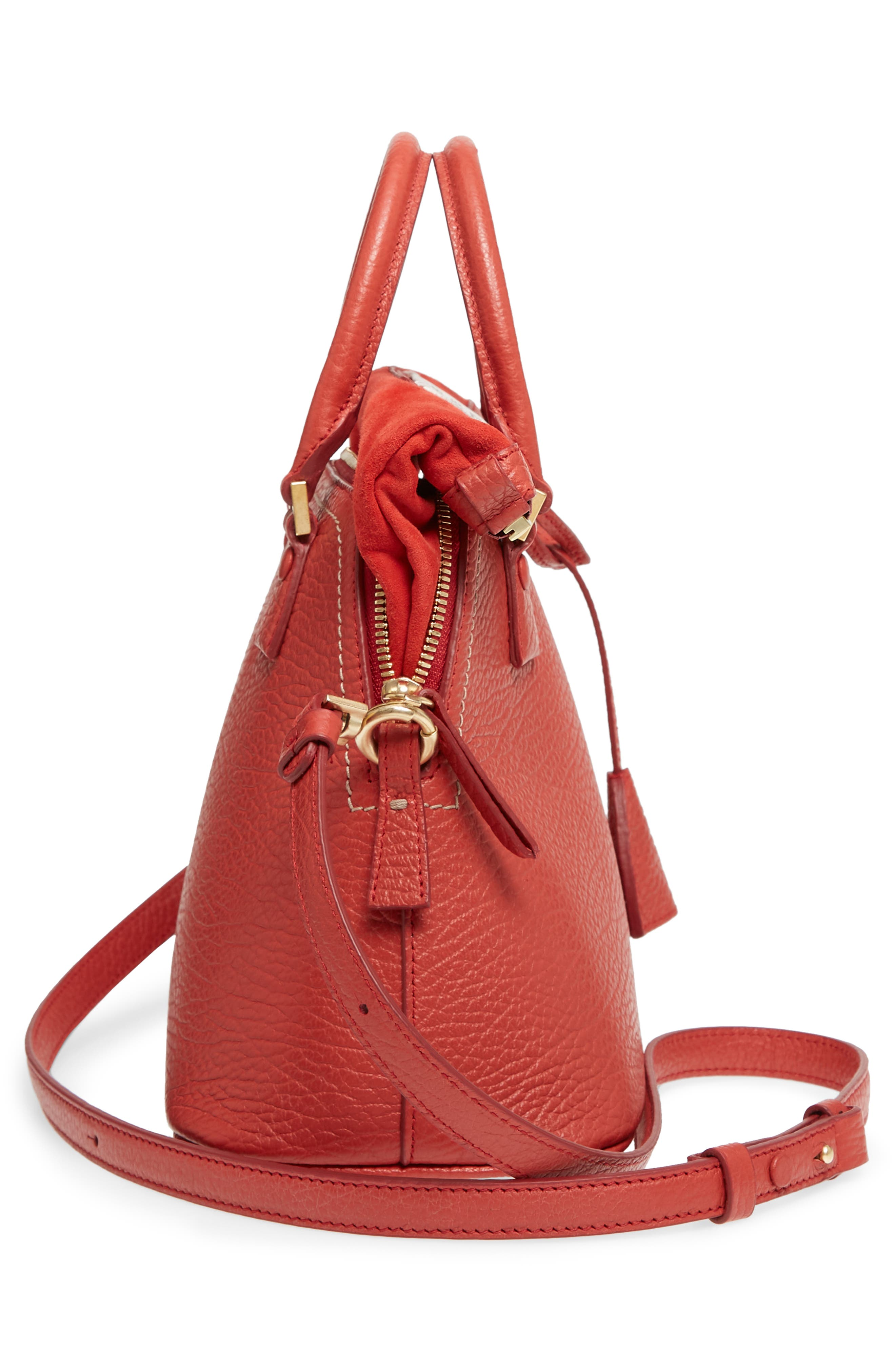 Small 5AC Calfskin Leather Handbag,                             Alternate thumbnail 6, color,                             600