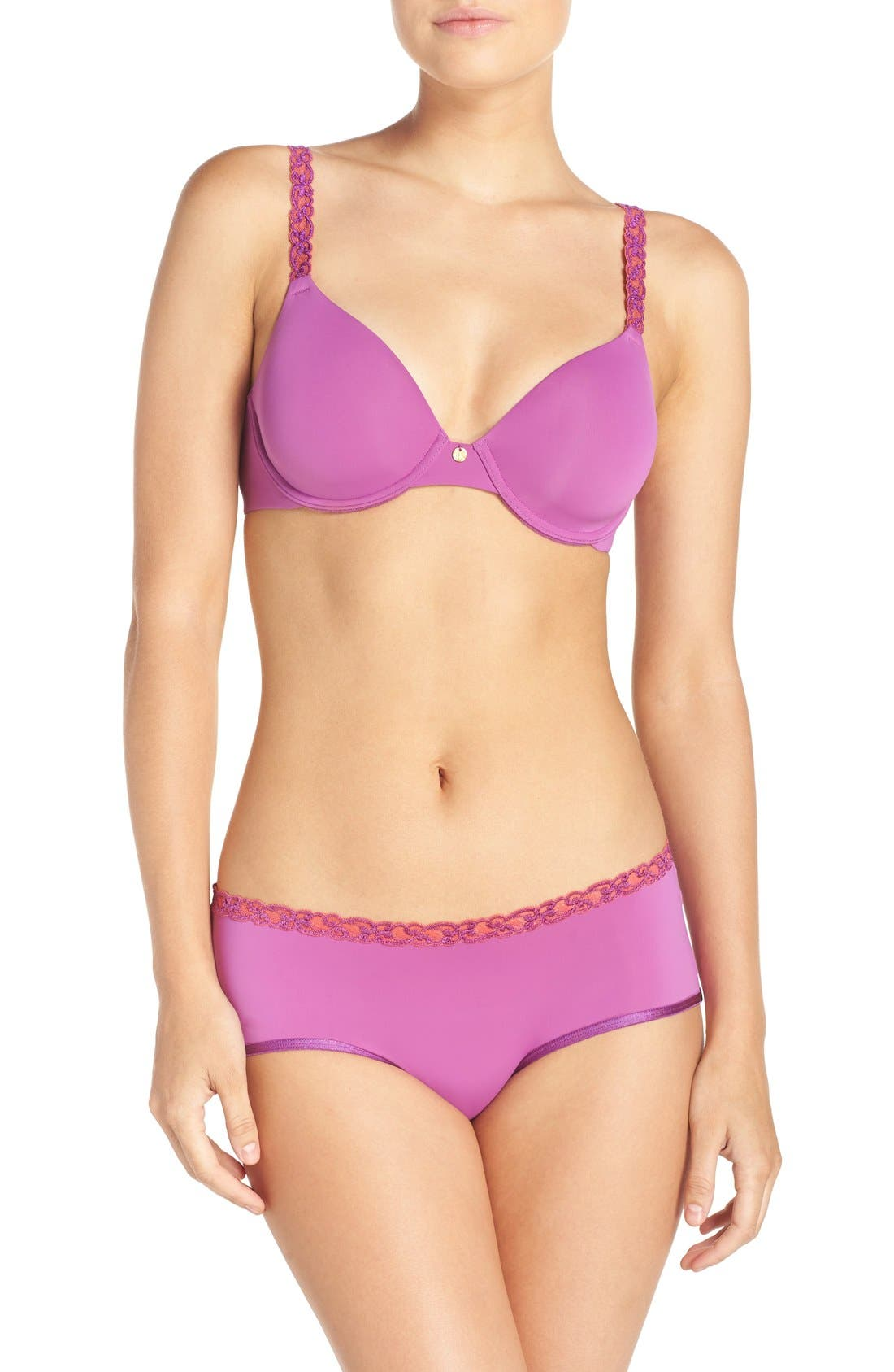 'Pure Luxe' Underwire T-Shirt Bra,                             Alternate thumbnail 144, color,