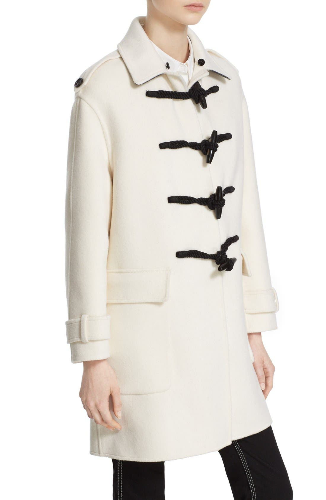 BURBERRY,                             'Highgate' Cashmere Duffle Coat with Removable Genuine Rabbit Fur Collar,                             Alternate thumbnail 6, color,                             900