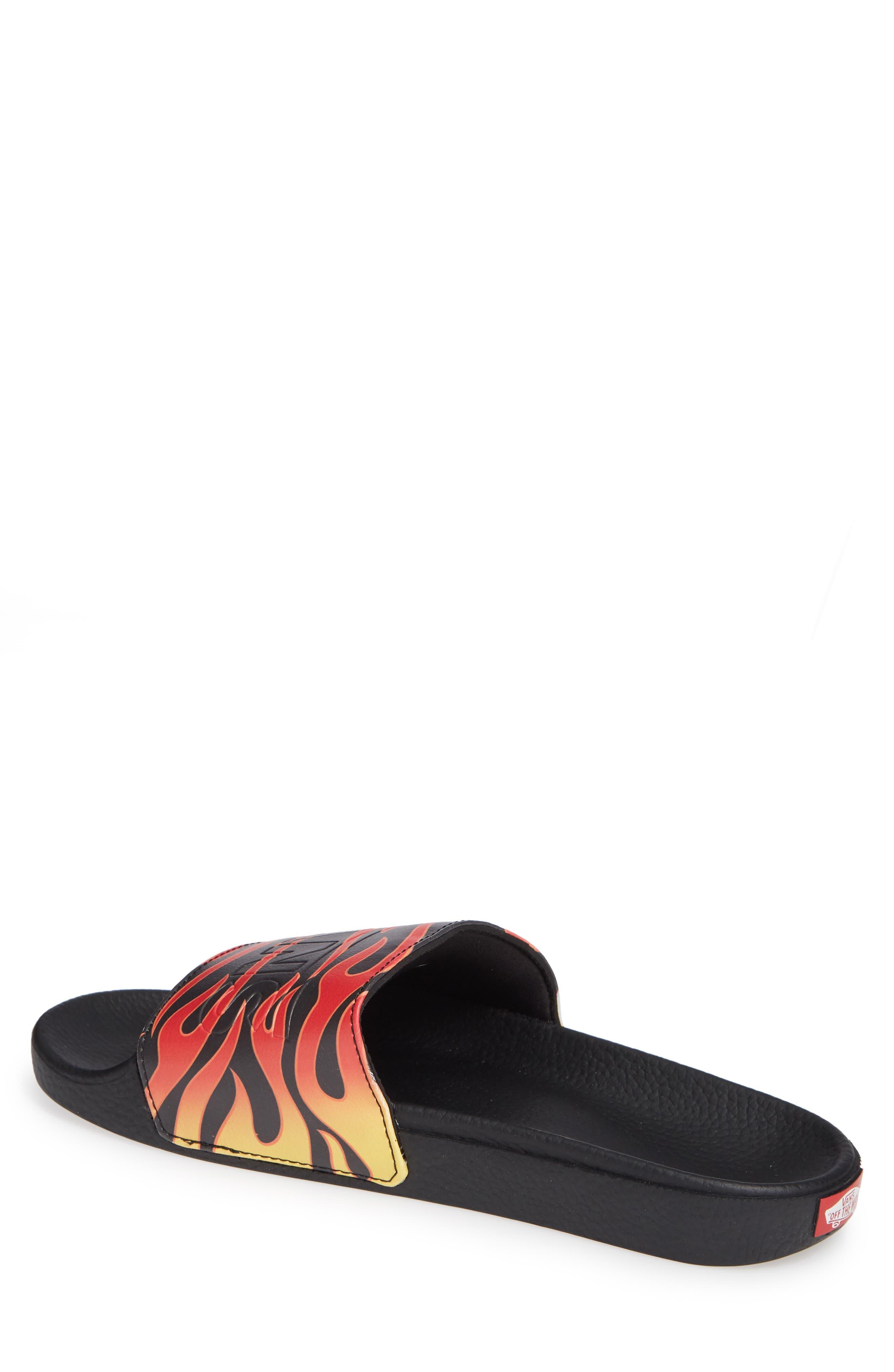 Slide-On Sandal,                             Alternate thumbnail 2, color,                             BLACK FLAME