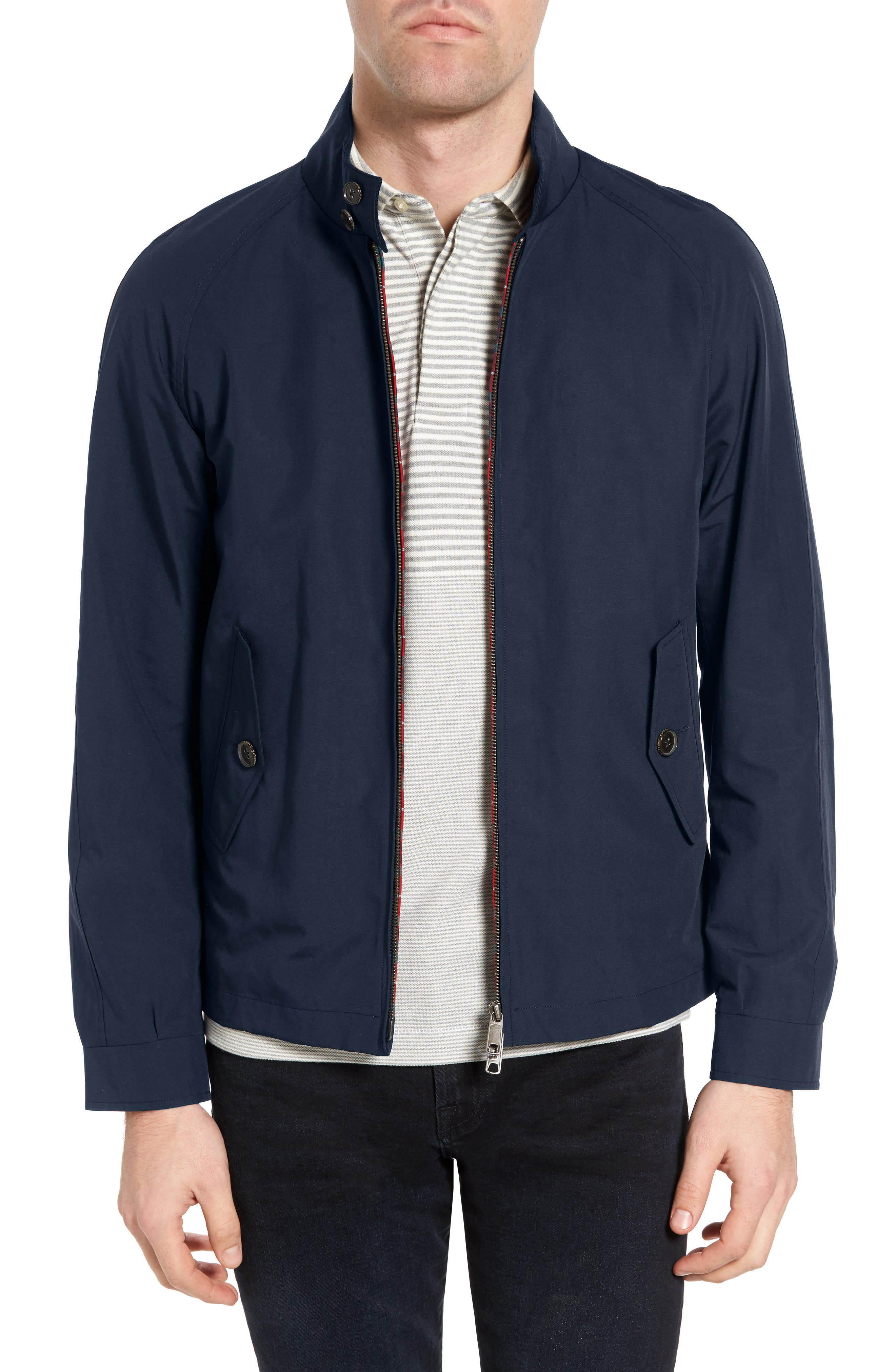 G4 Water Repellent Harrington Jacket,                         Main,                         color, NAVY