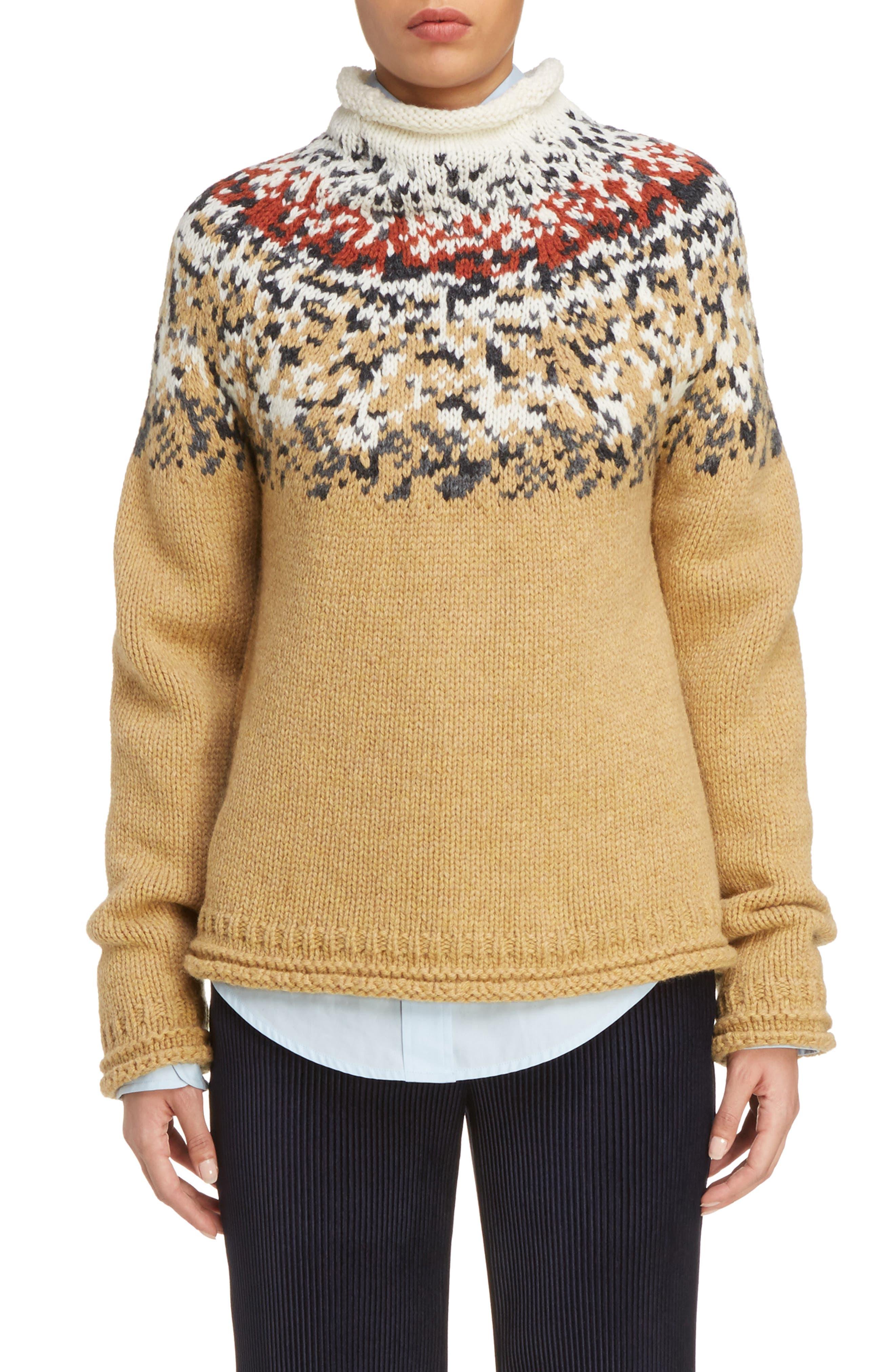 Sirius Heavy Icelandic High Neck Sweater,                             Main thumbnail 1, color,                             250