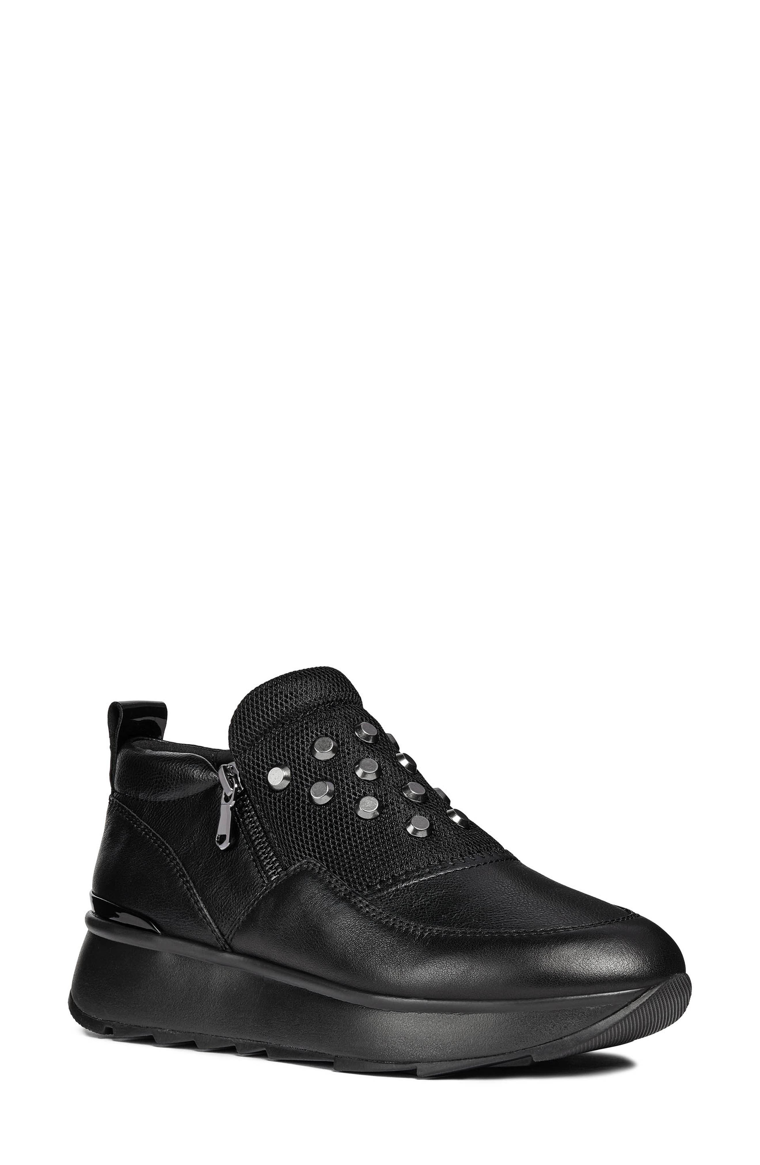 Gendry Sneaker,                         Main,                         color, BLACK LEATHER