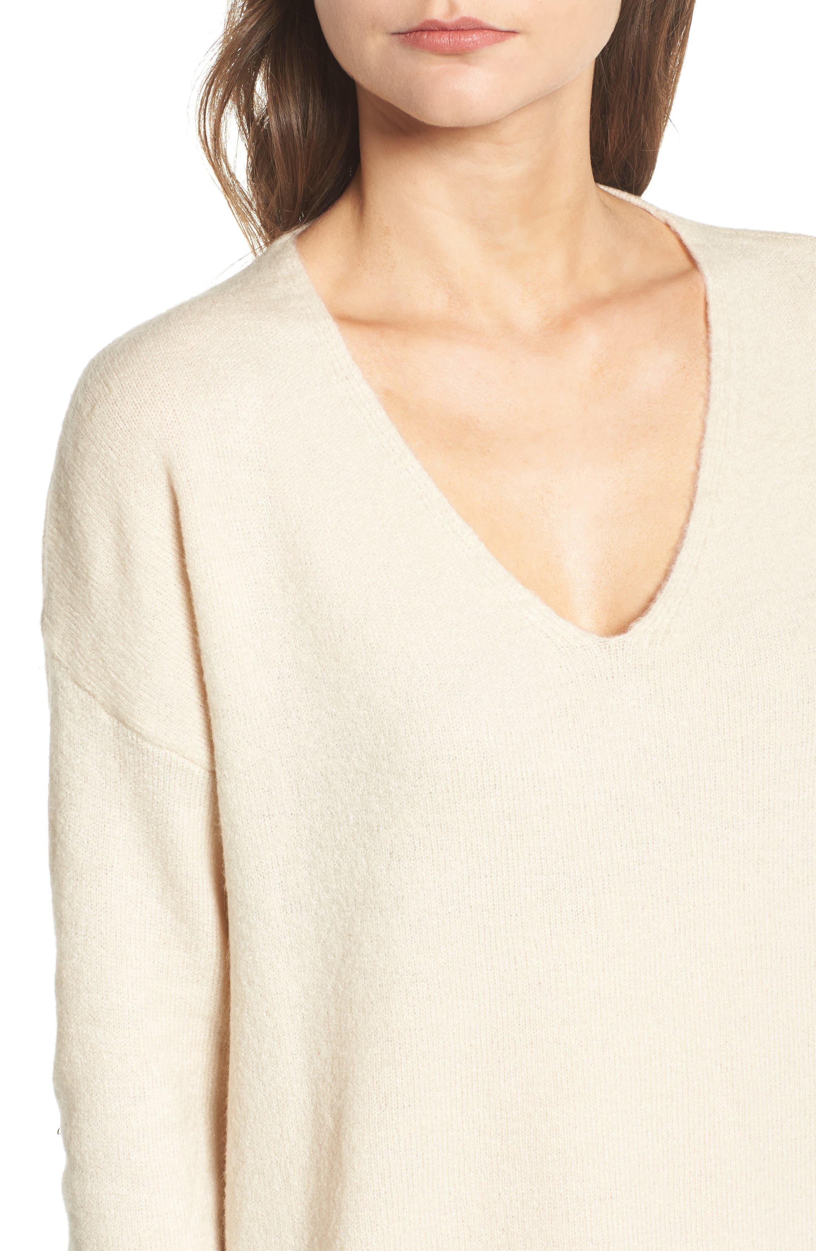 V-Neck Sweater,                             Alternate thumbnail 8, color,