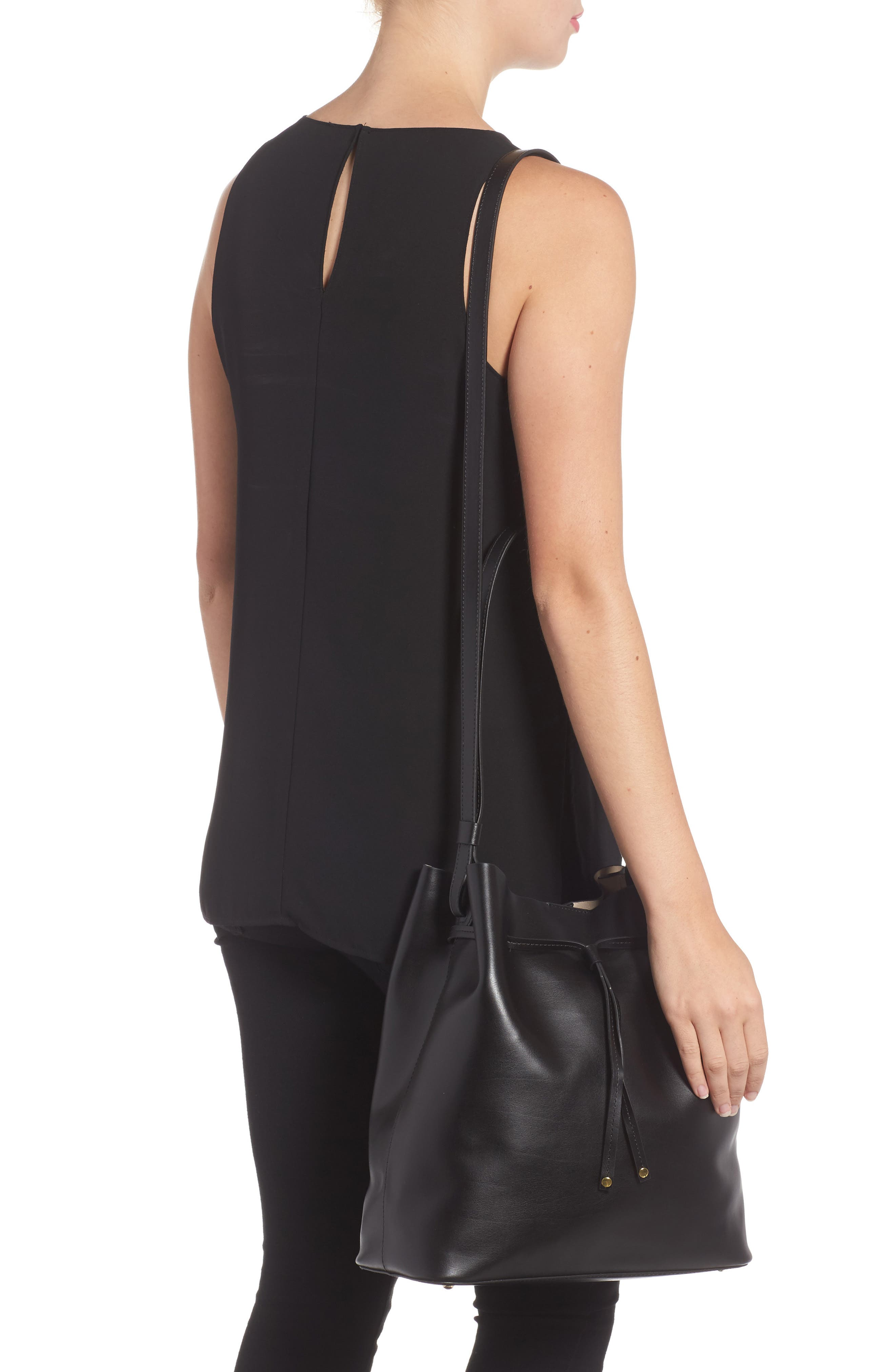 Silicon Valley Large Halina Leather Bucket Bag,                             Alternate thumbnail 4, color,