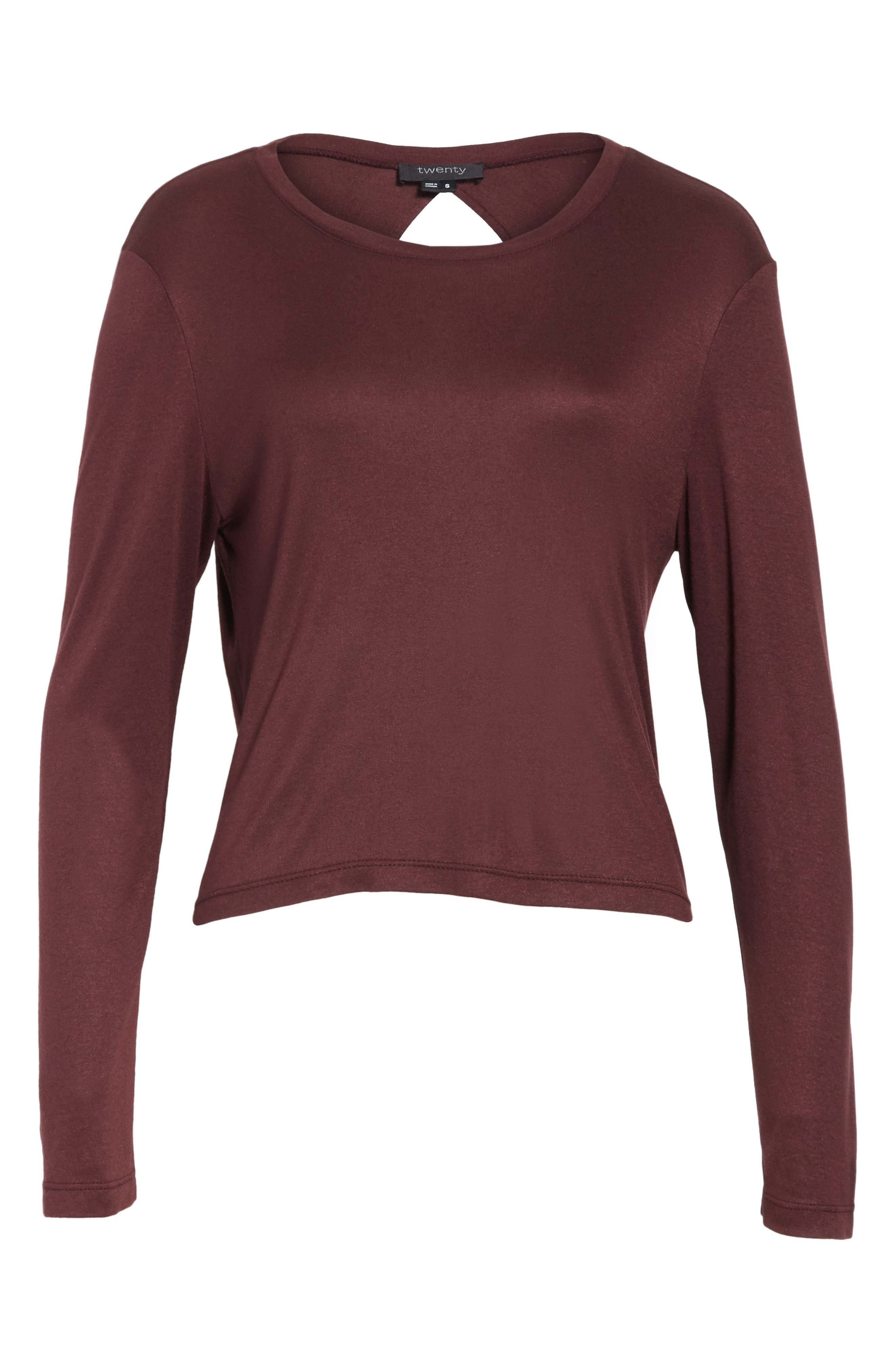 Willow Shine Jersey Open Back Top,                             Alternate thumbnail 12, color,