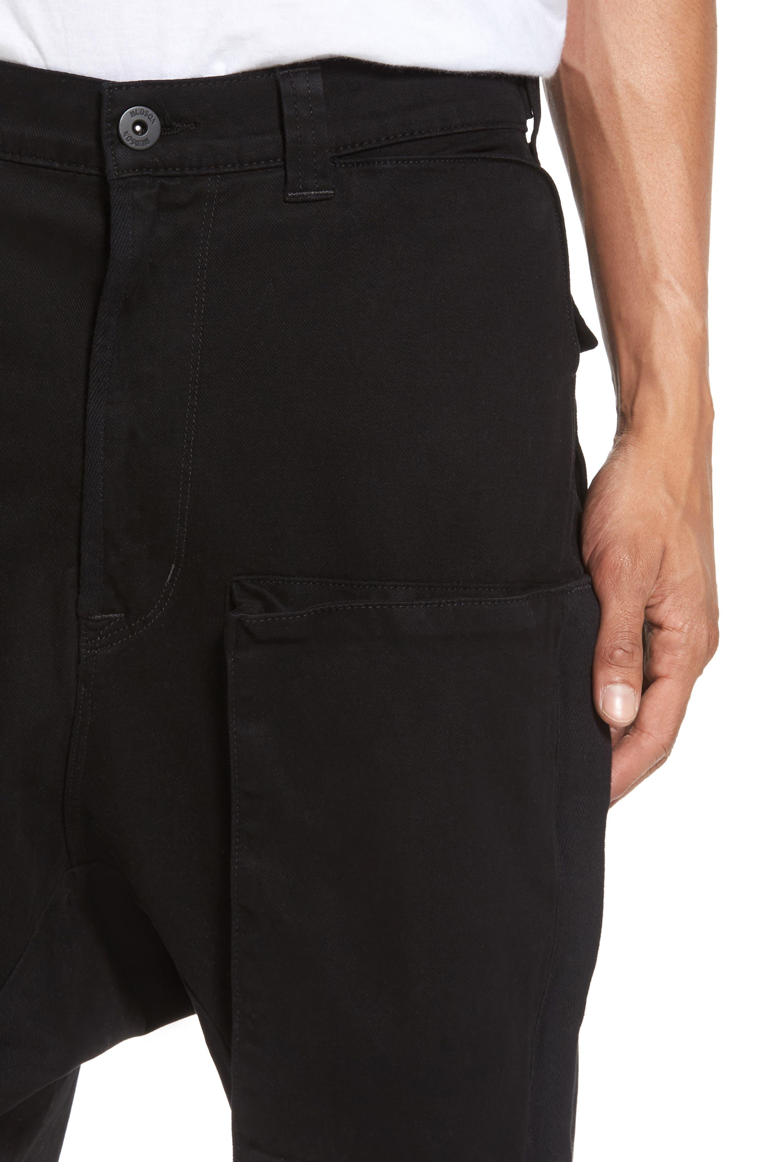 Quint Slouchy Leg Cargo Pants,                             Alternate thumbnail 4, color,                             001