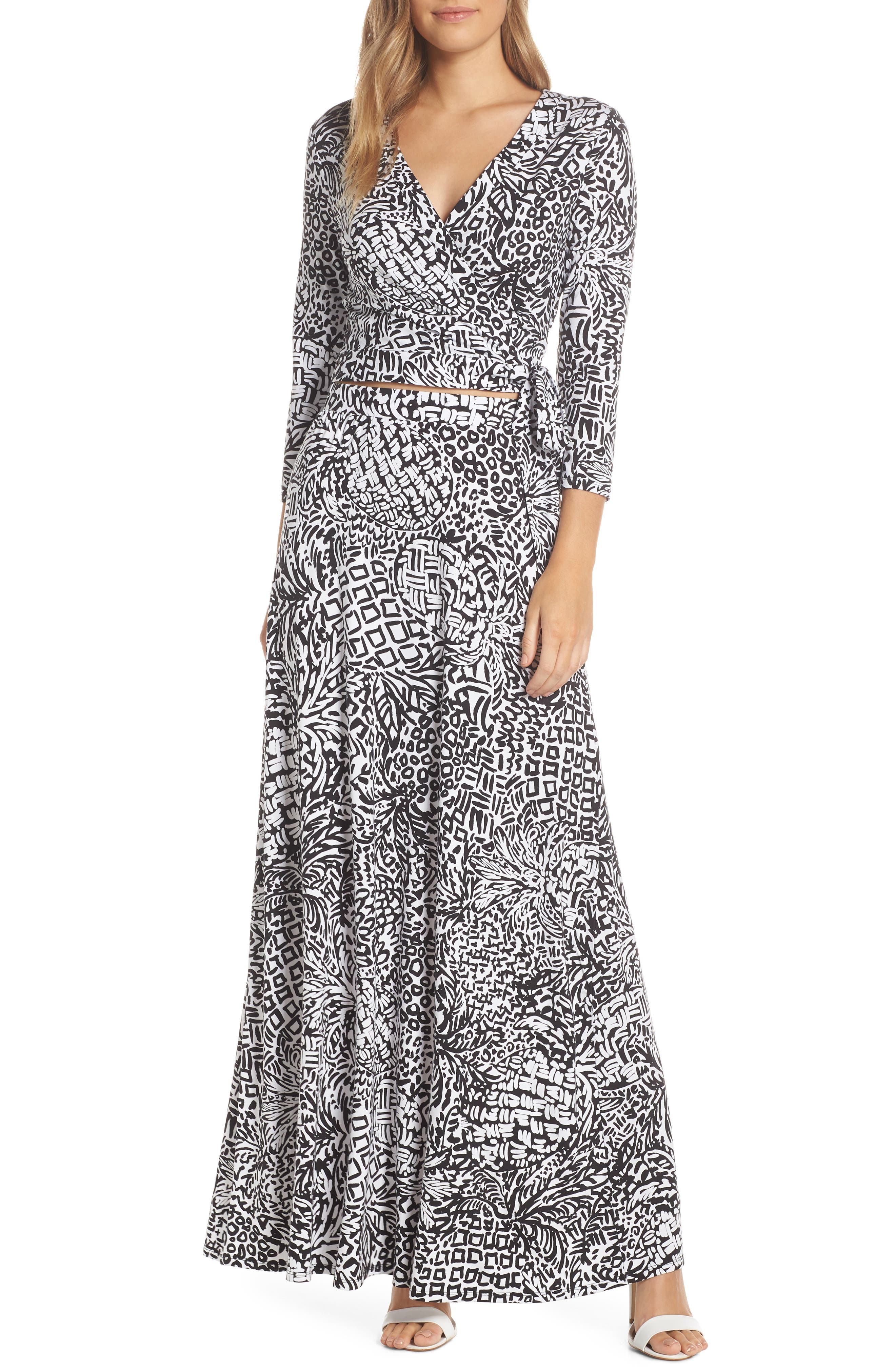 Lilly Pulitzer Ruari Two-Piece Maxi Dress, Black