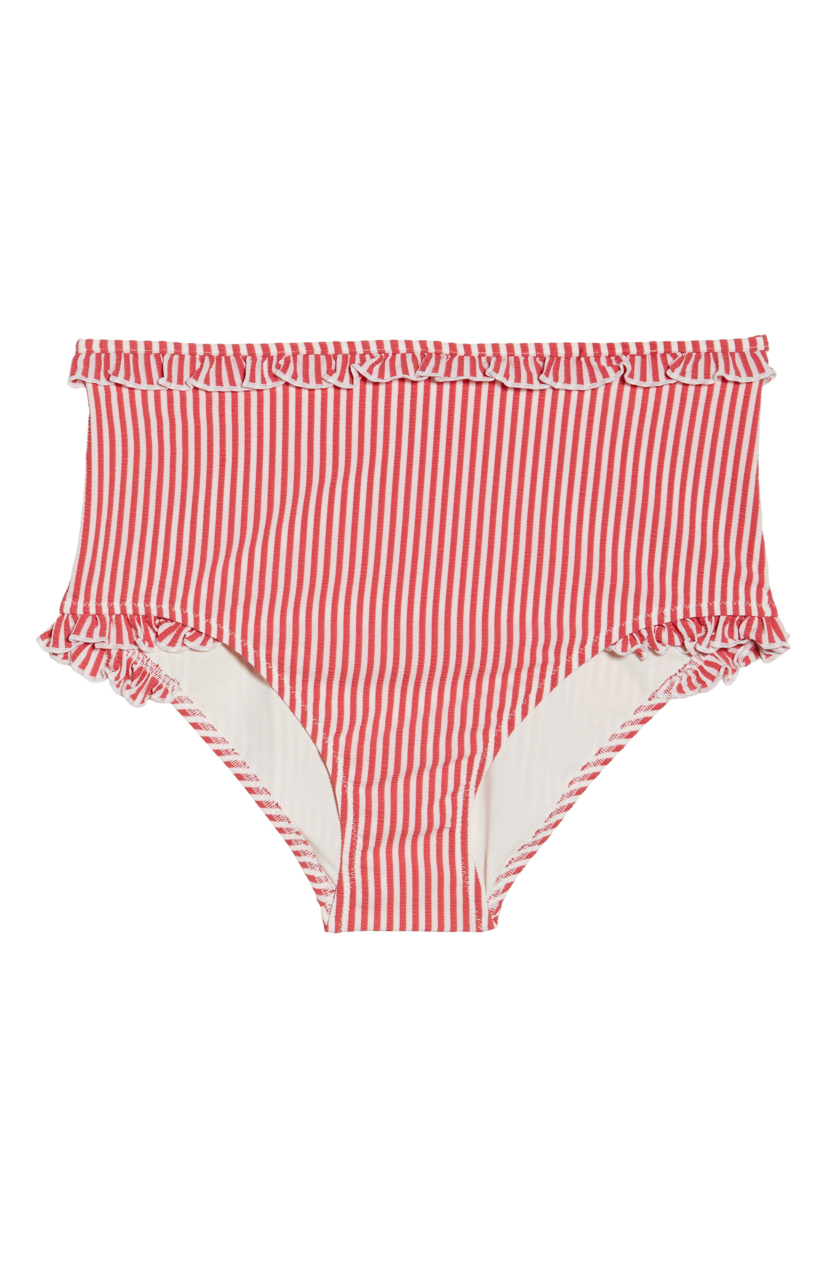 The Leslie High Waist Bikini Bottoms,                             Alternate thumbnail 6, color,                             600