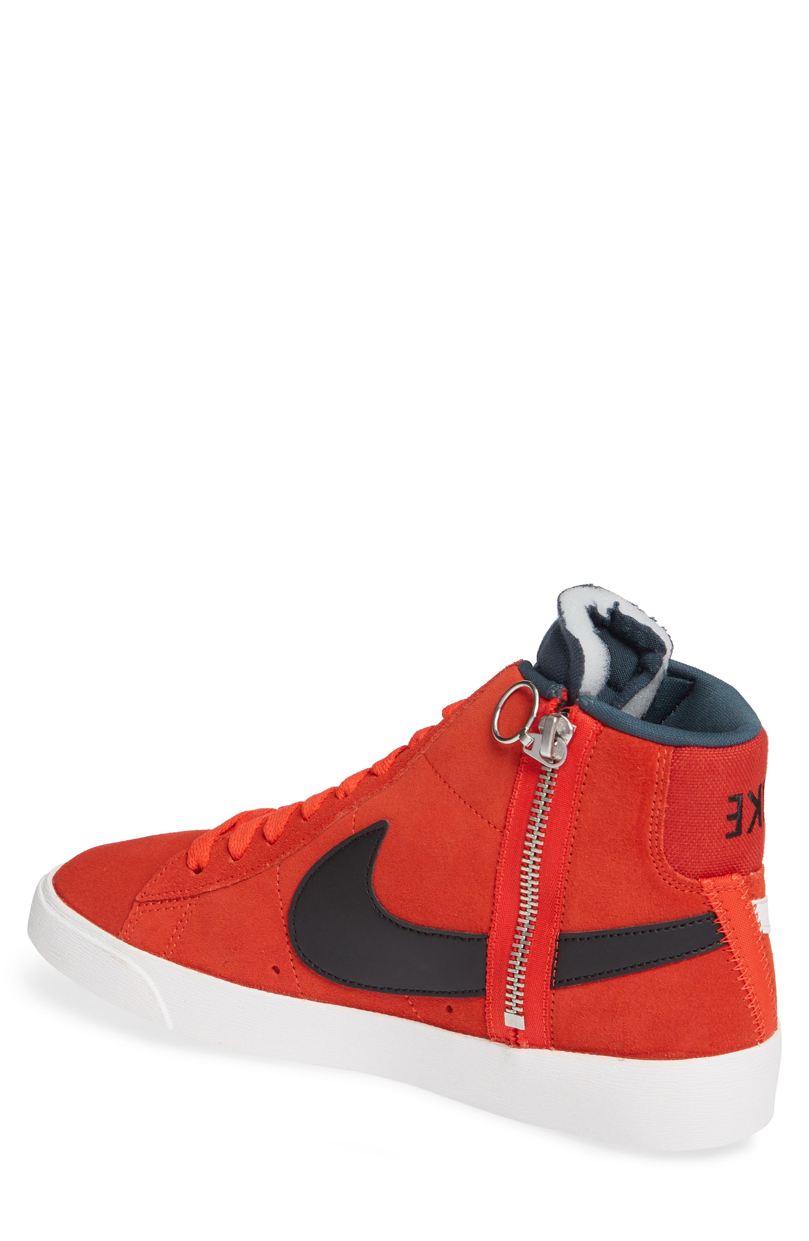 Blazer Mid Rebel Sneaker,                             Alternate thumbnail 2, color,                             HABANERO/ WHITE/ BLACK/ SPRUCE