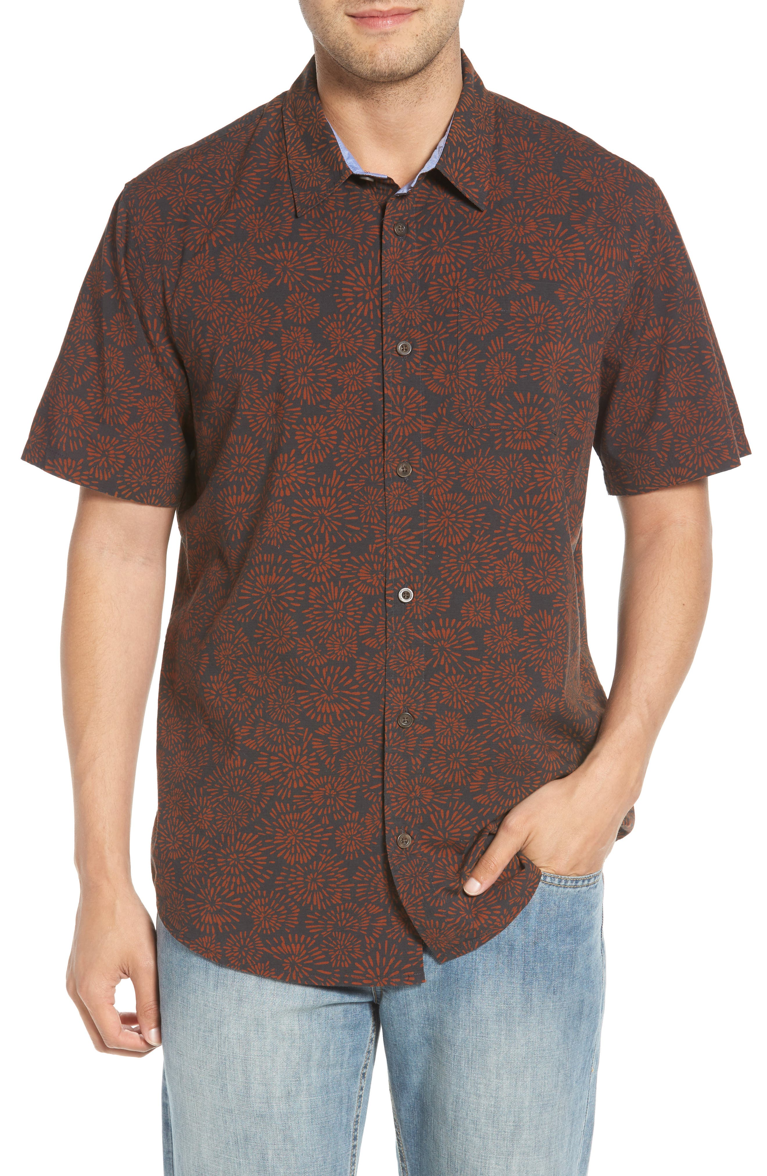 Upland Print Sport Shirt,                         Main,                         color, 020