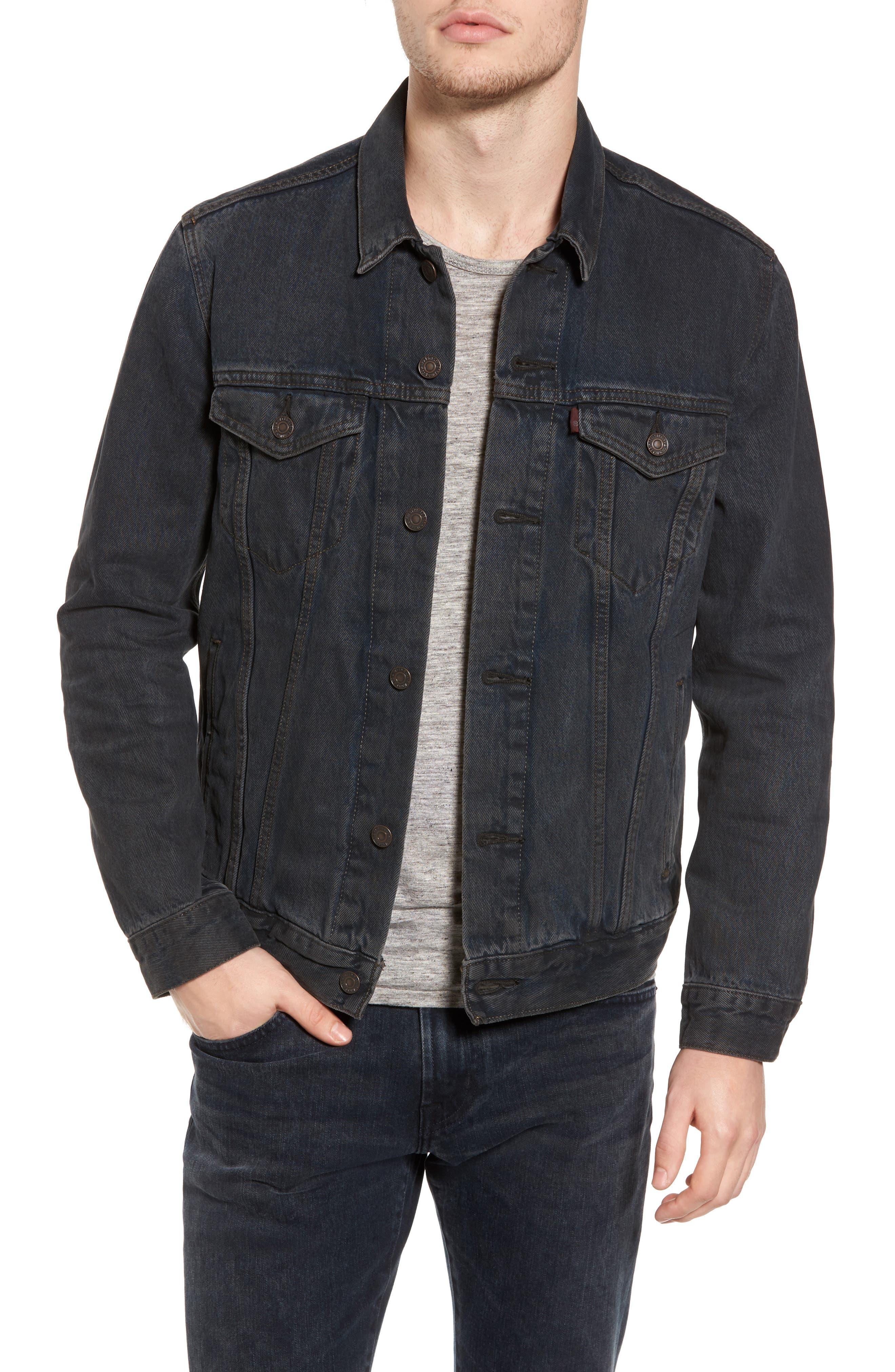 Trucker Denim Jacket,                         Main,                         color, 020